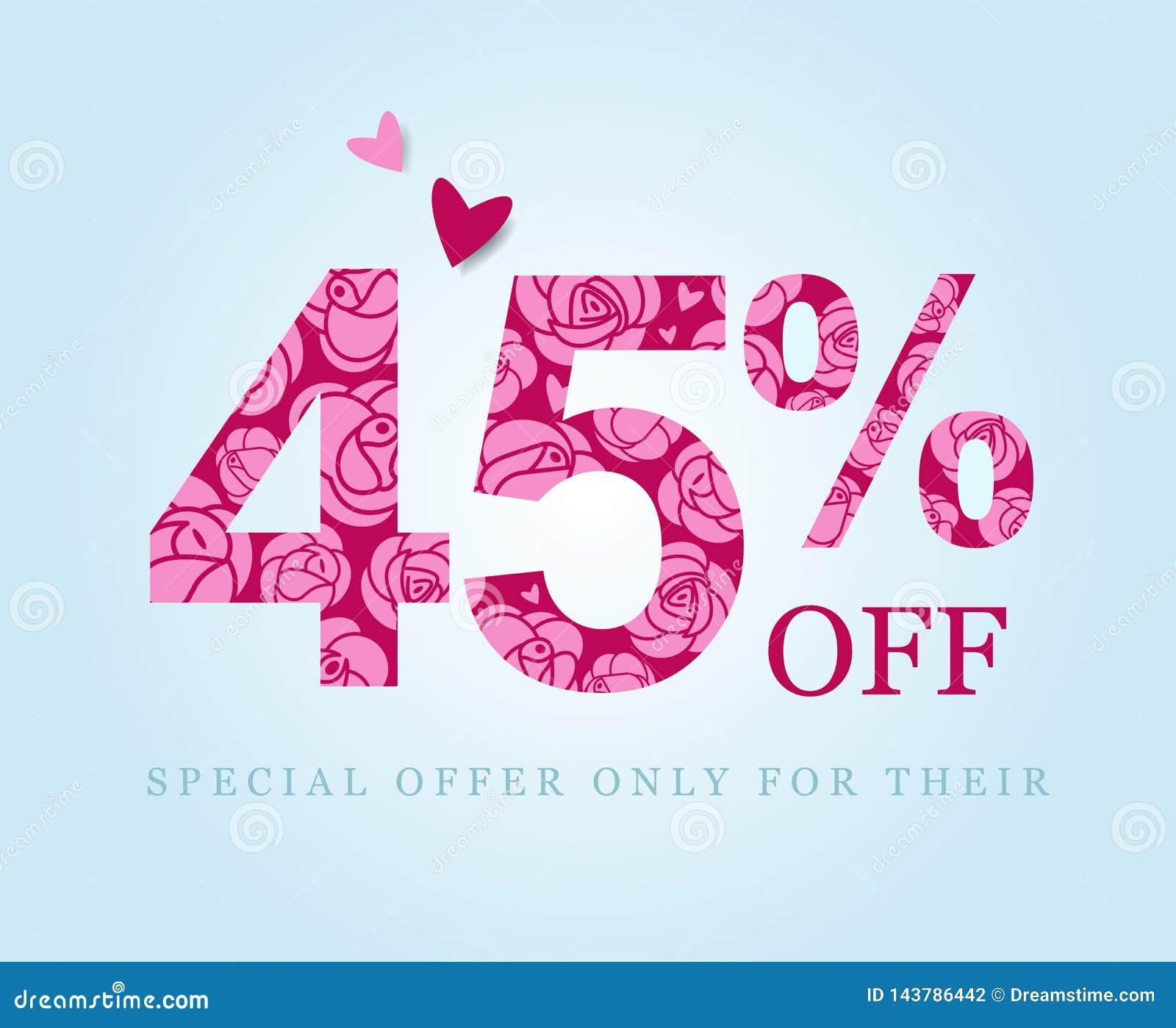 Descuento del cuarenta y cinco por ciento Venta Rosas rosadas