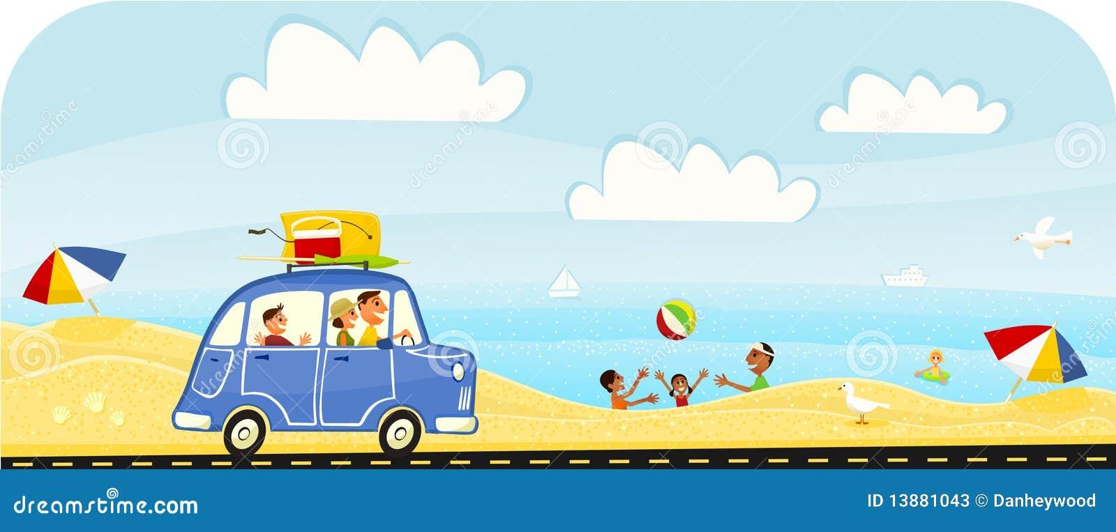 Desengate das férias de verão à praia