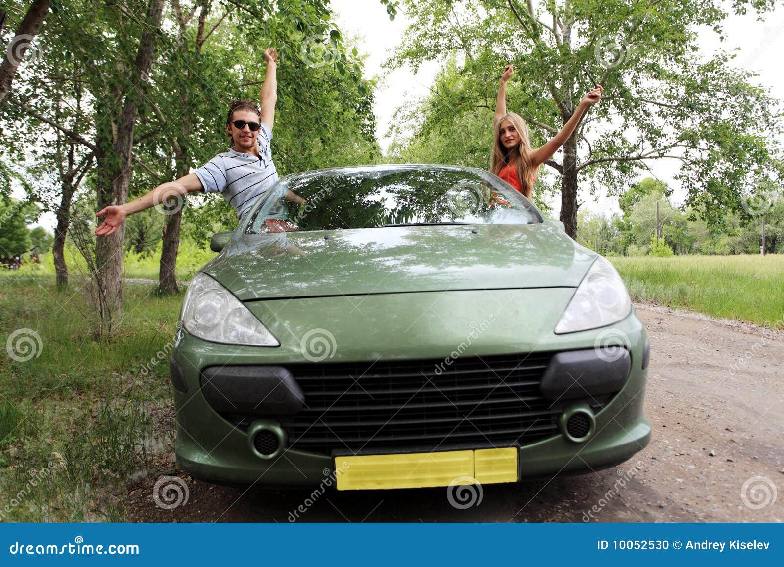 Desengate em um carro