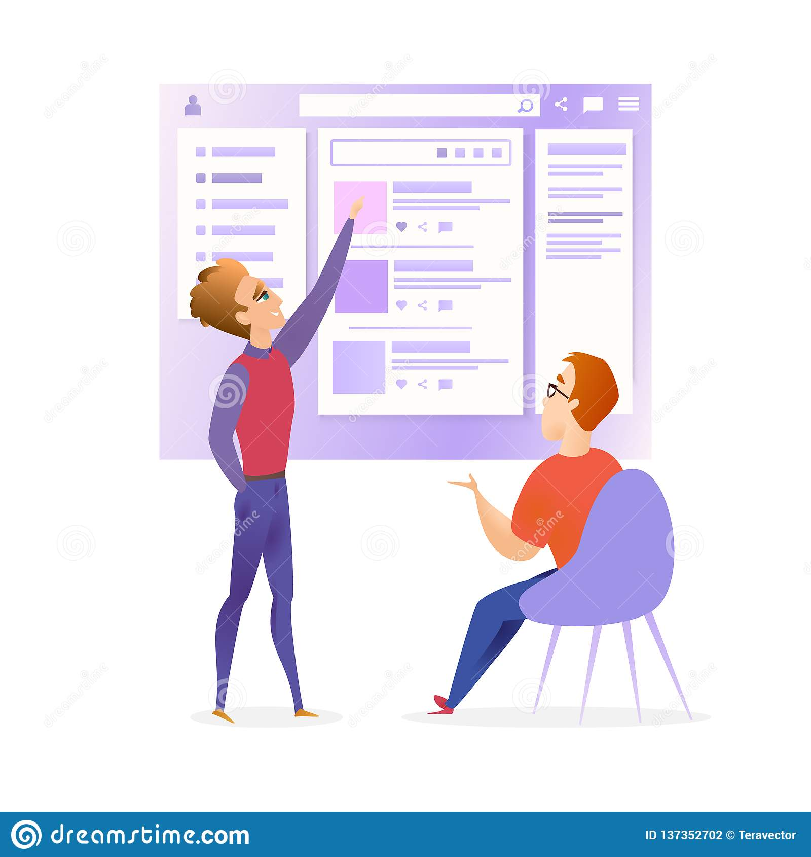 Desenhista Developer Meeting Banner de Ui do Web site