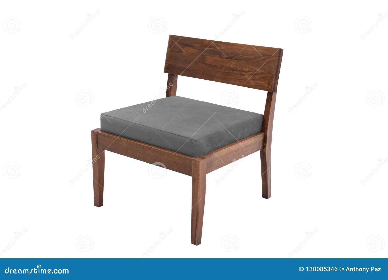 Desenhista moderno da poltrona da tela e da madeira