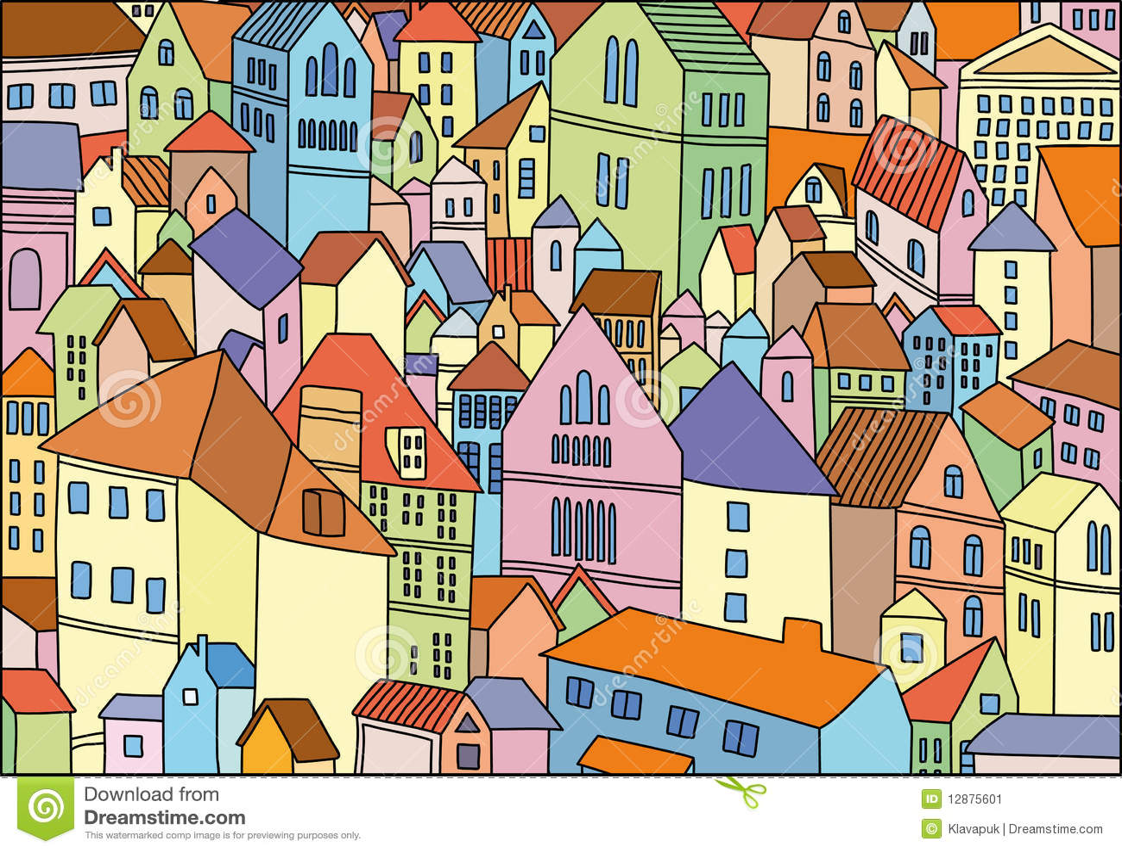 Desenho abstrato da cor do fundo da cidade