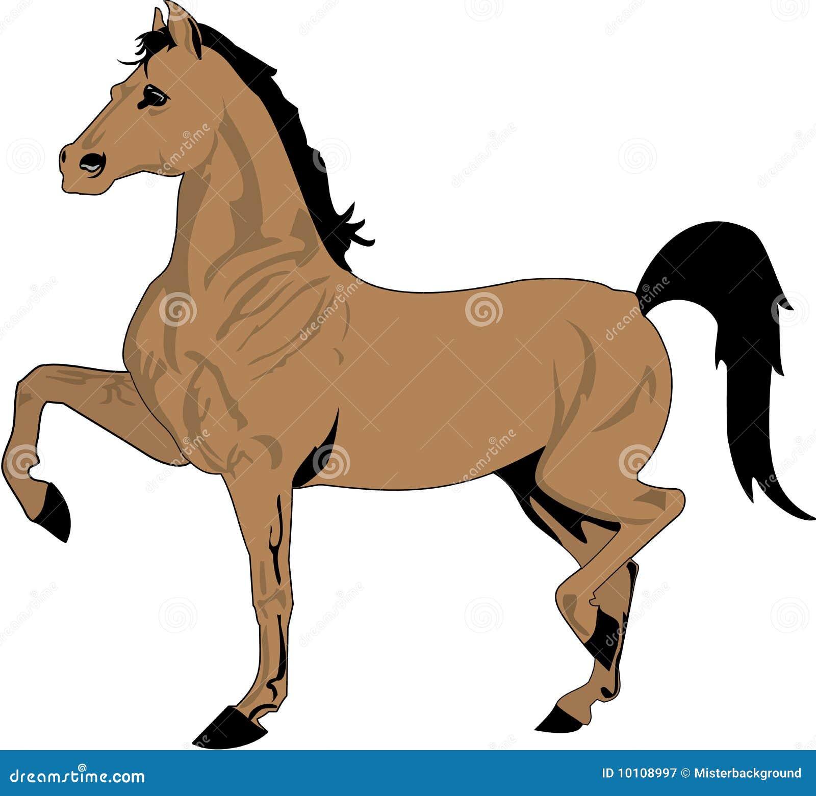 Desenho Bonito Do Cavalo Cor Fotografia De Stock Royalty Free Imagem 10108997