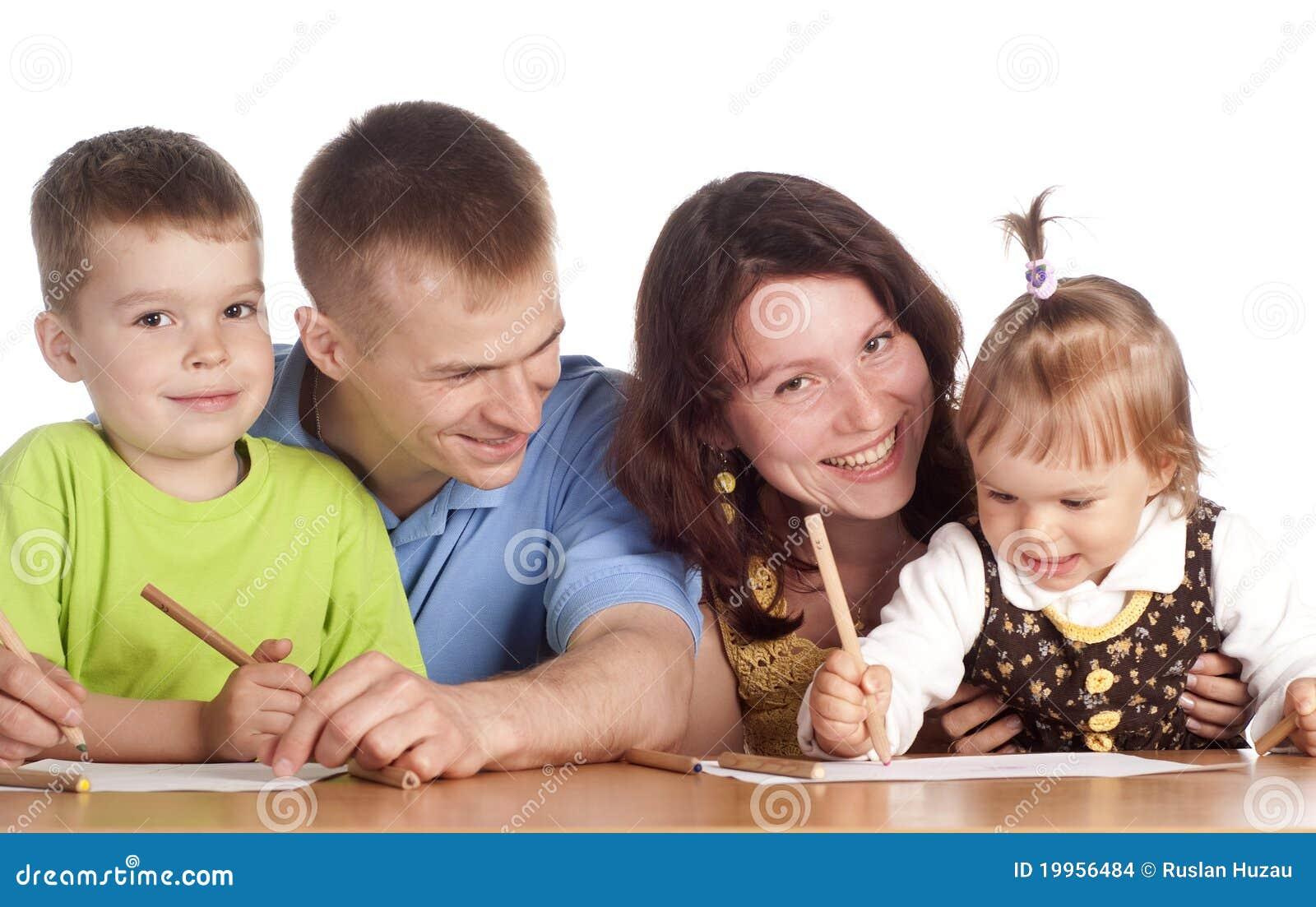 Desenho da família na tabela