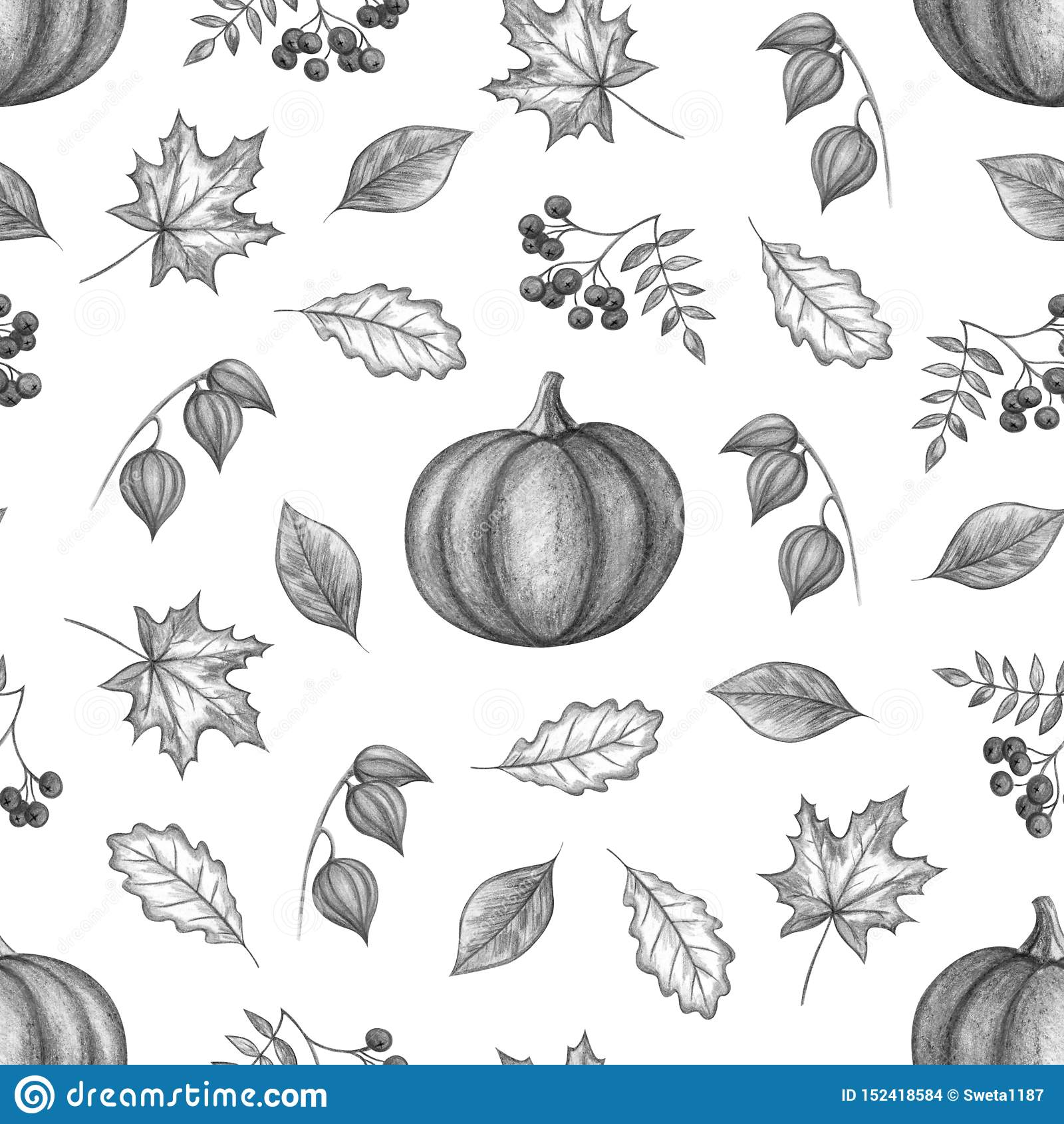 Desenho da mão do outono