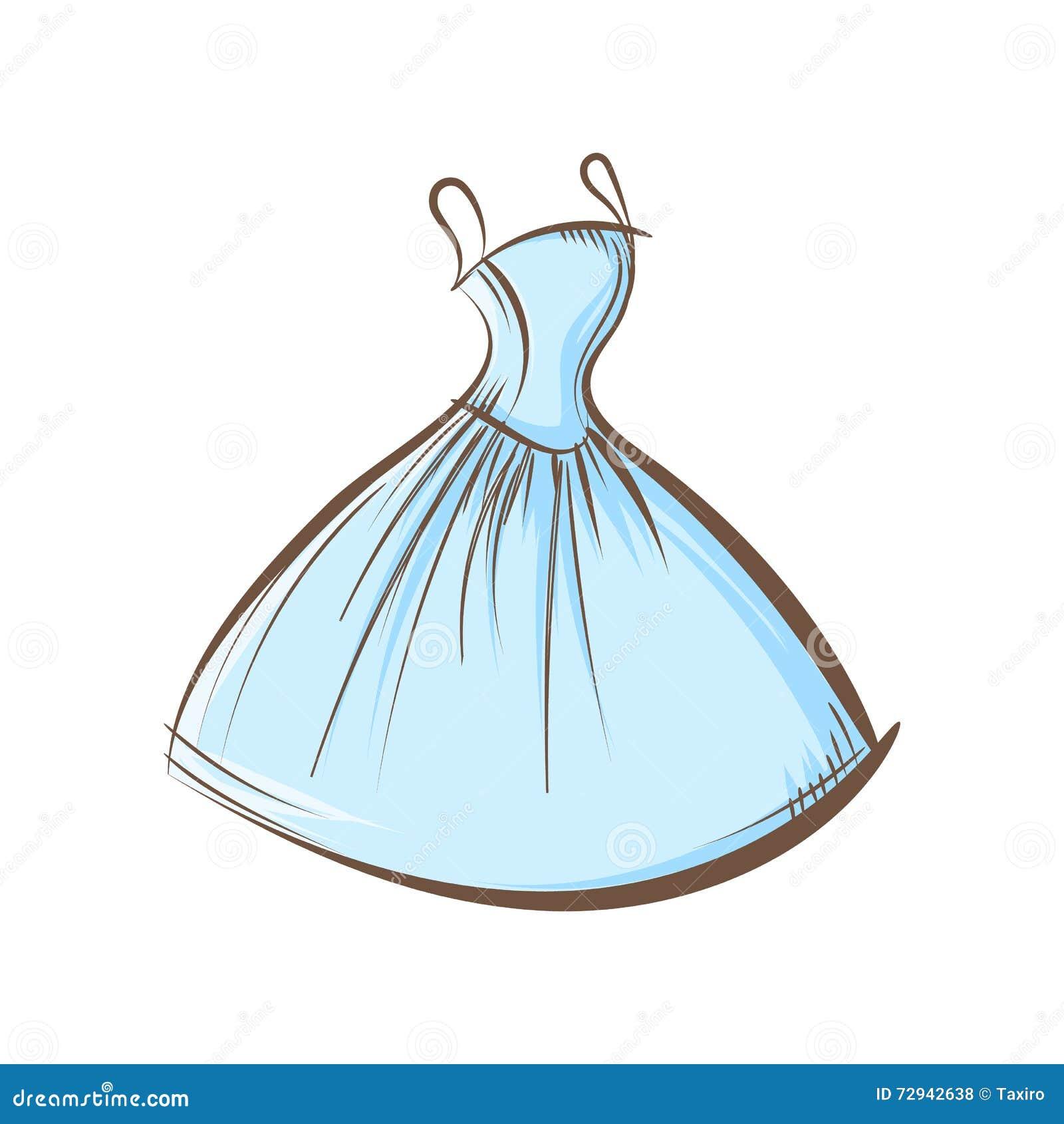 Desenho da mão do vestido de bola