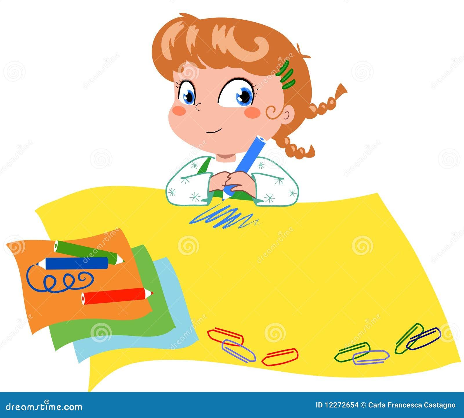 Desenho Da Menina Ilustracao Do Vetor Ilustracao De Jogo 12272654