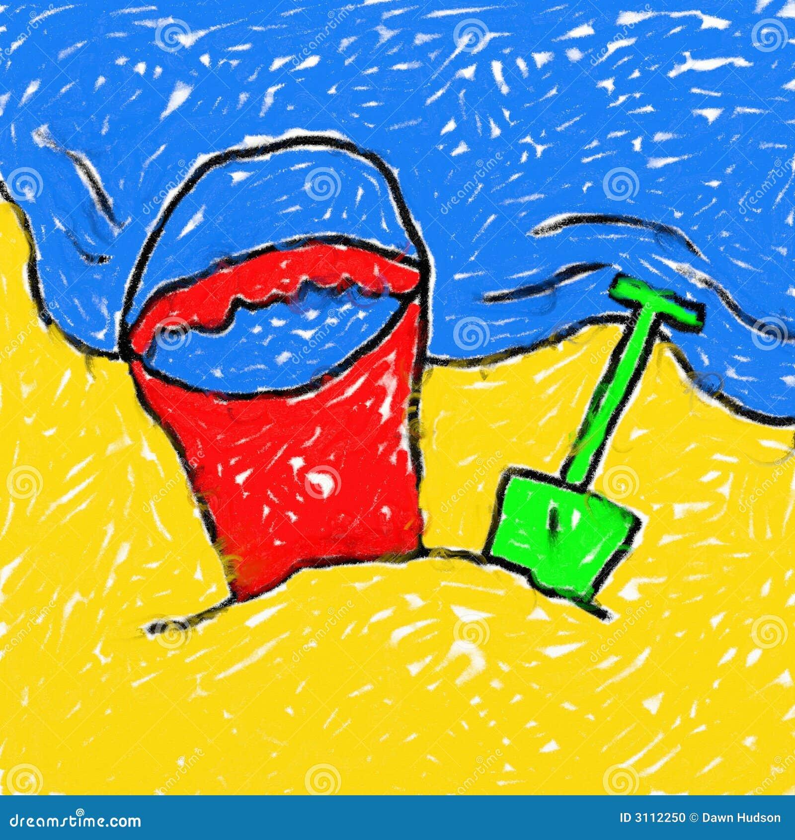 Desenho da praia de Childs