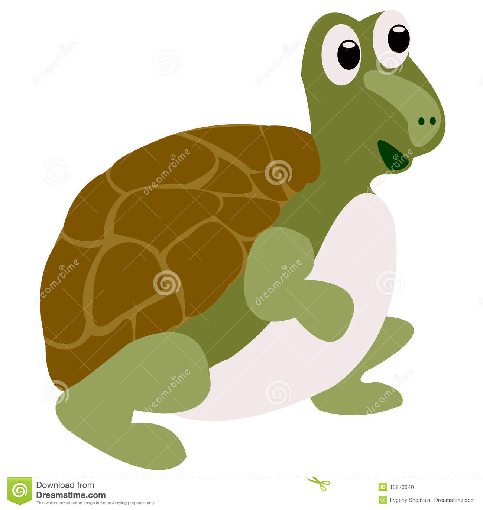 Desenho da tartaruga de água doce alegre