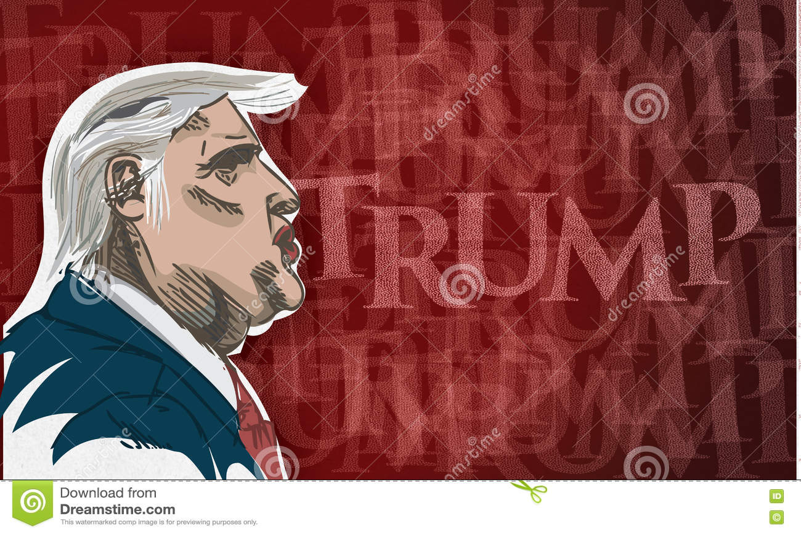 Desenho de Donald Trump