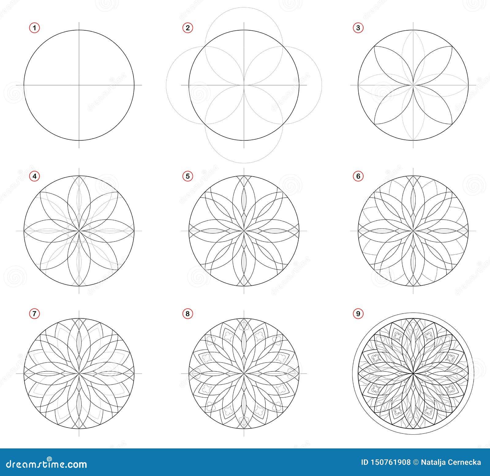 Desenho De Lápis Passo A Passo Da Criação Mostras Da Página
