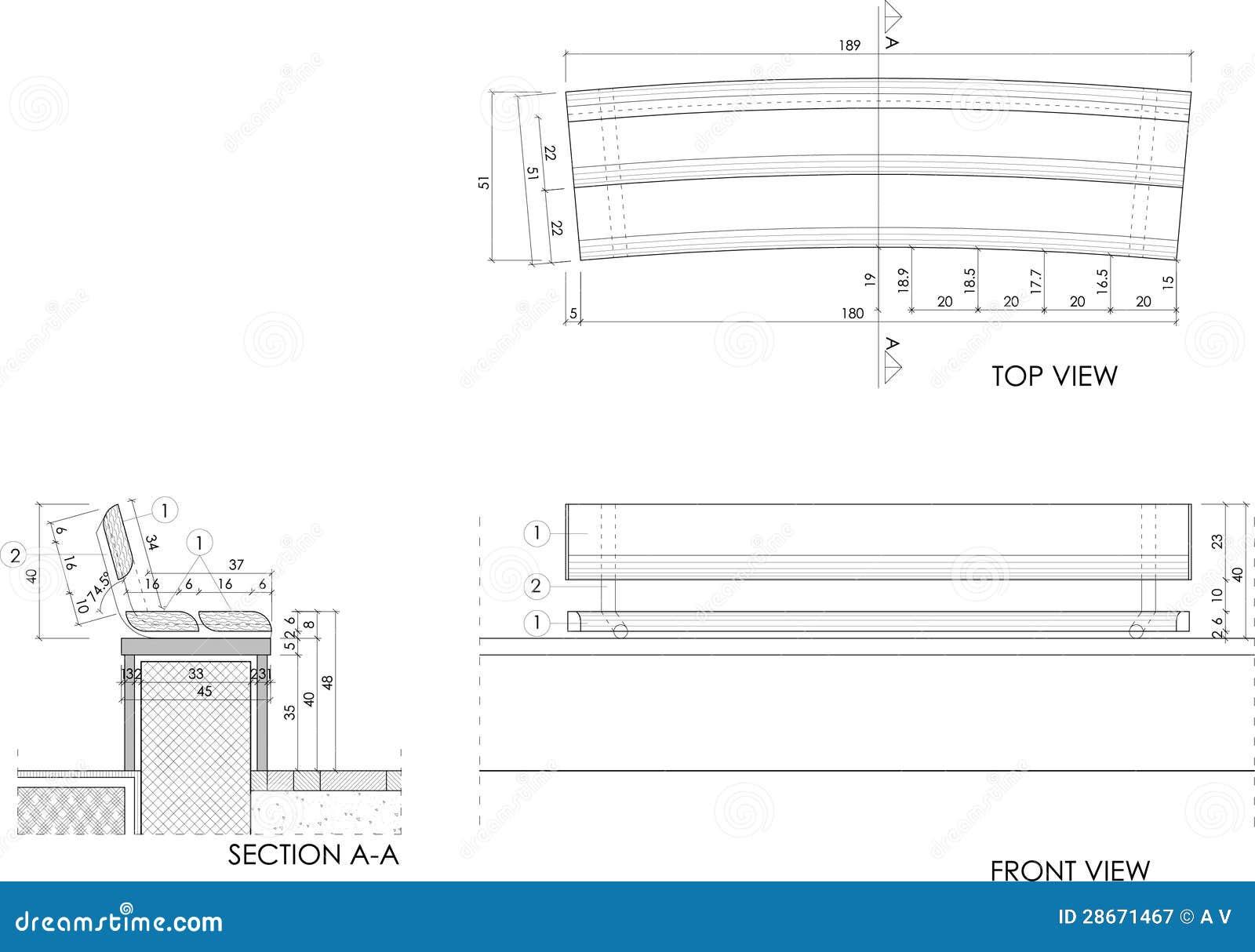 banco de jardim vetor:Desenho Do Banco De Madeira Fotografia de Stock Royalty Free – Imagem
