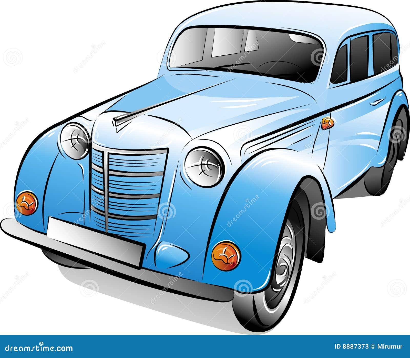 Desenho Do Carro Retro Ilustração Do Vetor. Ilustração De