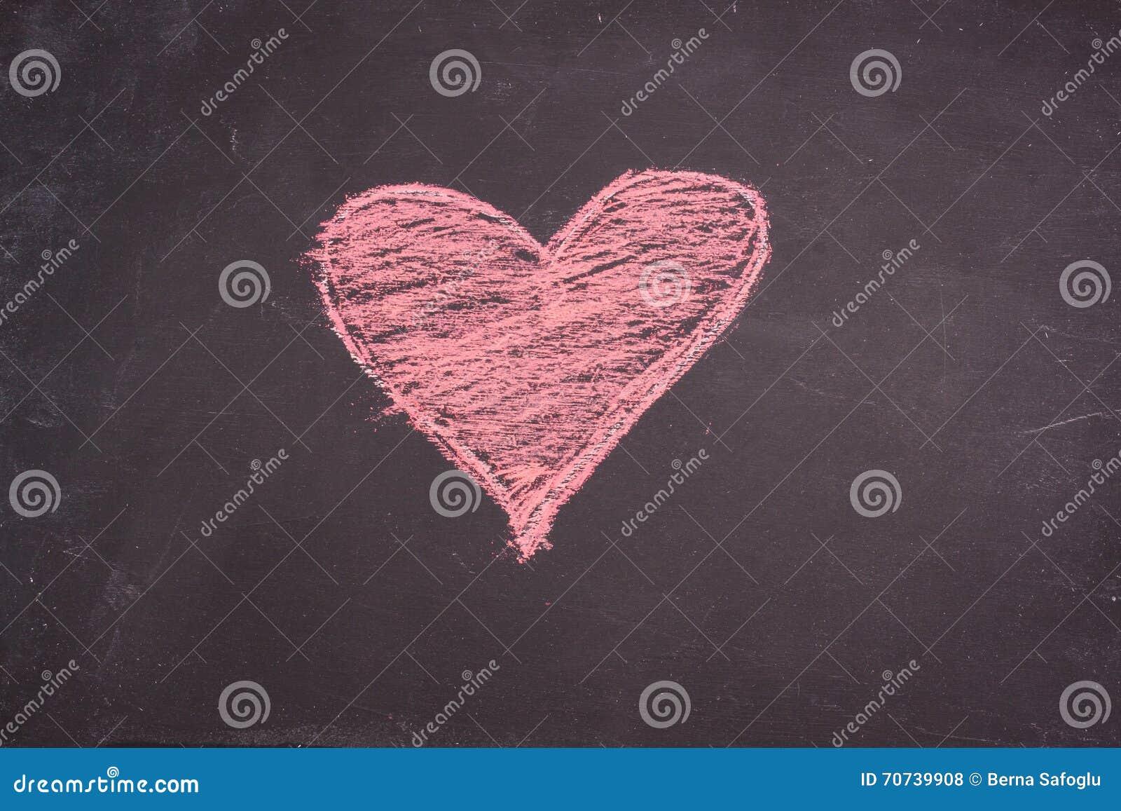 Desenho do coração do giz