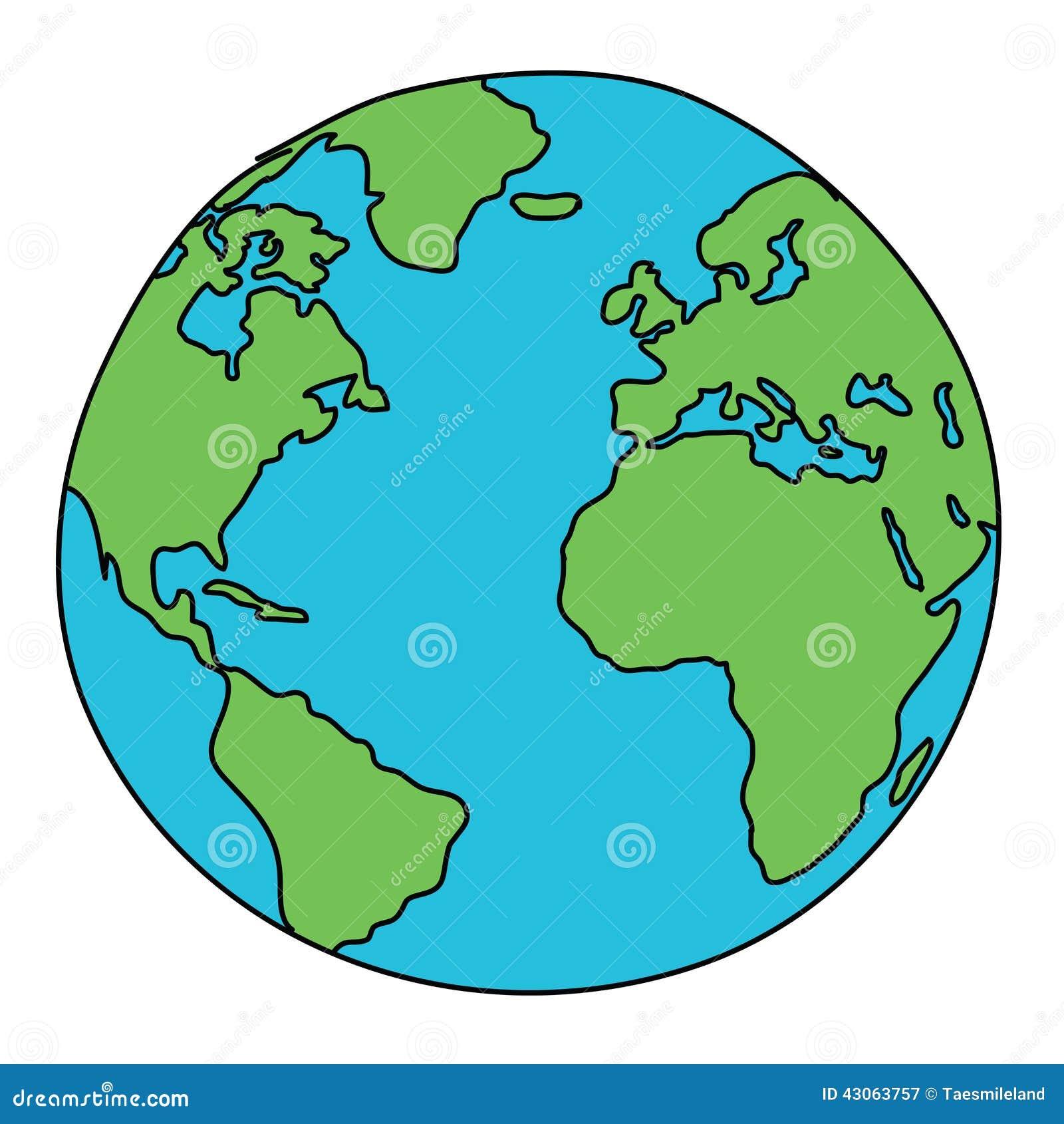 Desenho Do Mundo Ilustração do Vetor - Imagem: 43063757