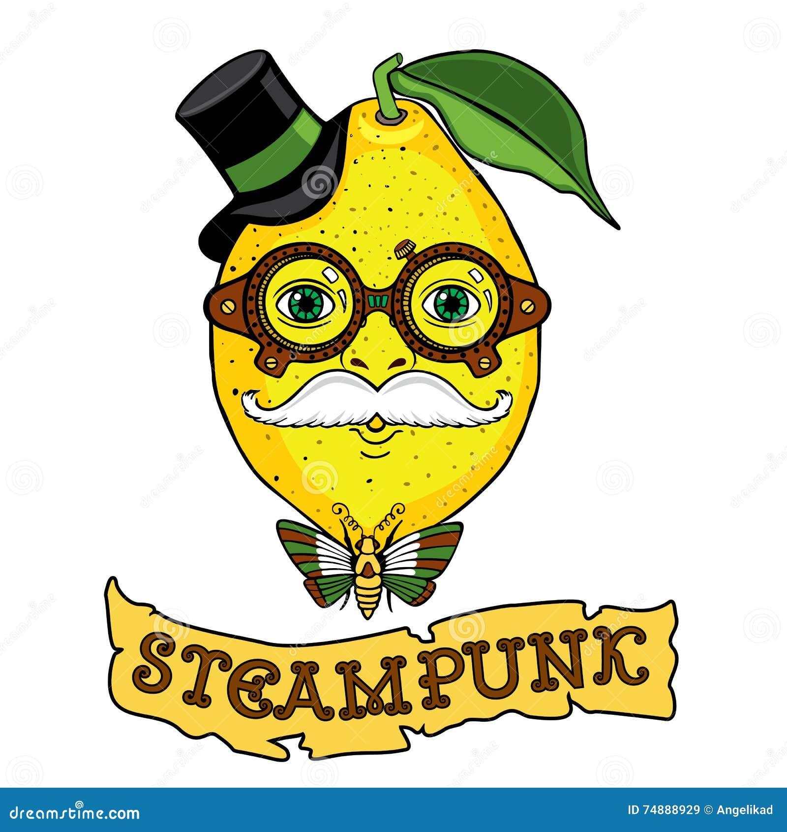 Desenho do Sr. Lemon ao estilo do steampunk