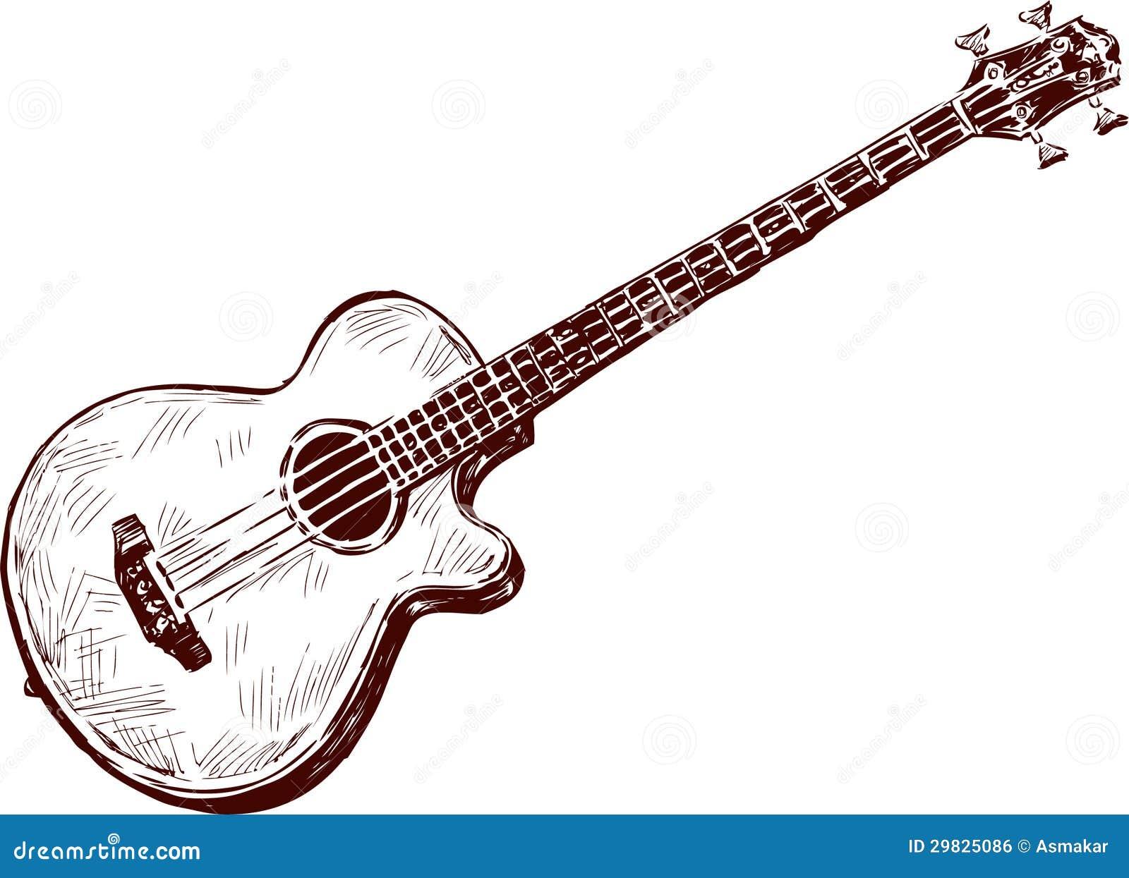 Download Guitarra acústica ilustração do vetor. Ilustração de desenhado - 29825086