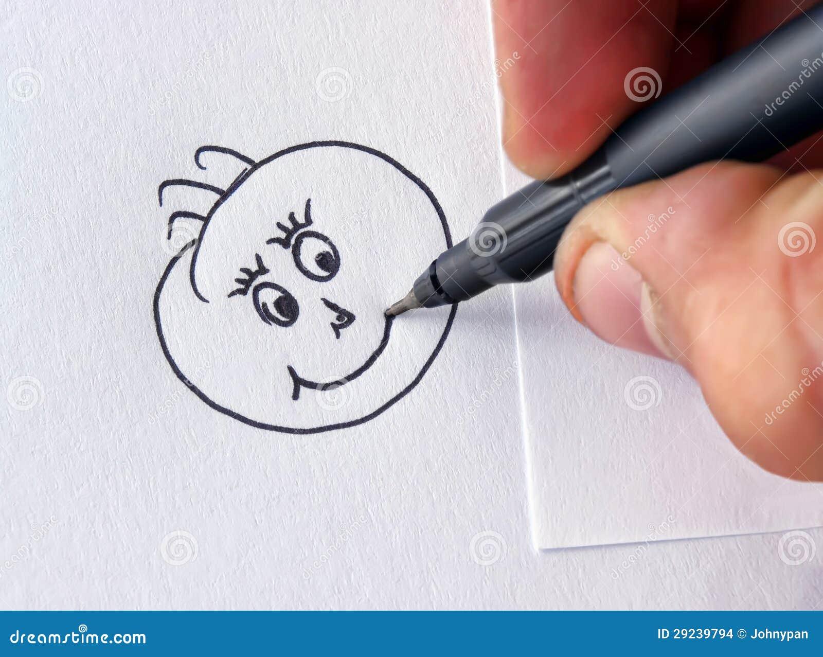 Download Desenho feliz da face ilustração stock. Ilustração de smiley - 29239794