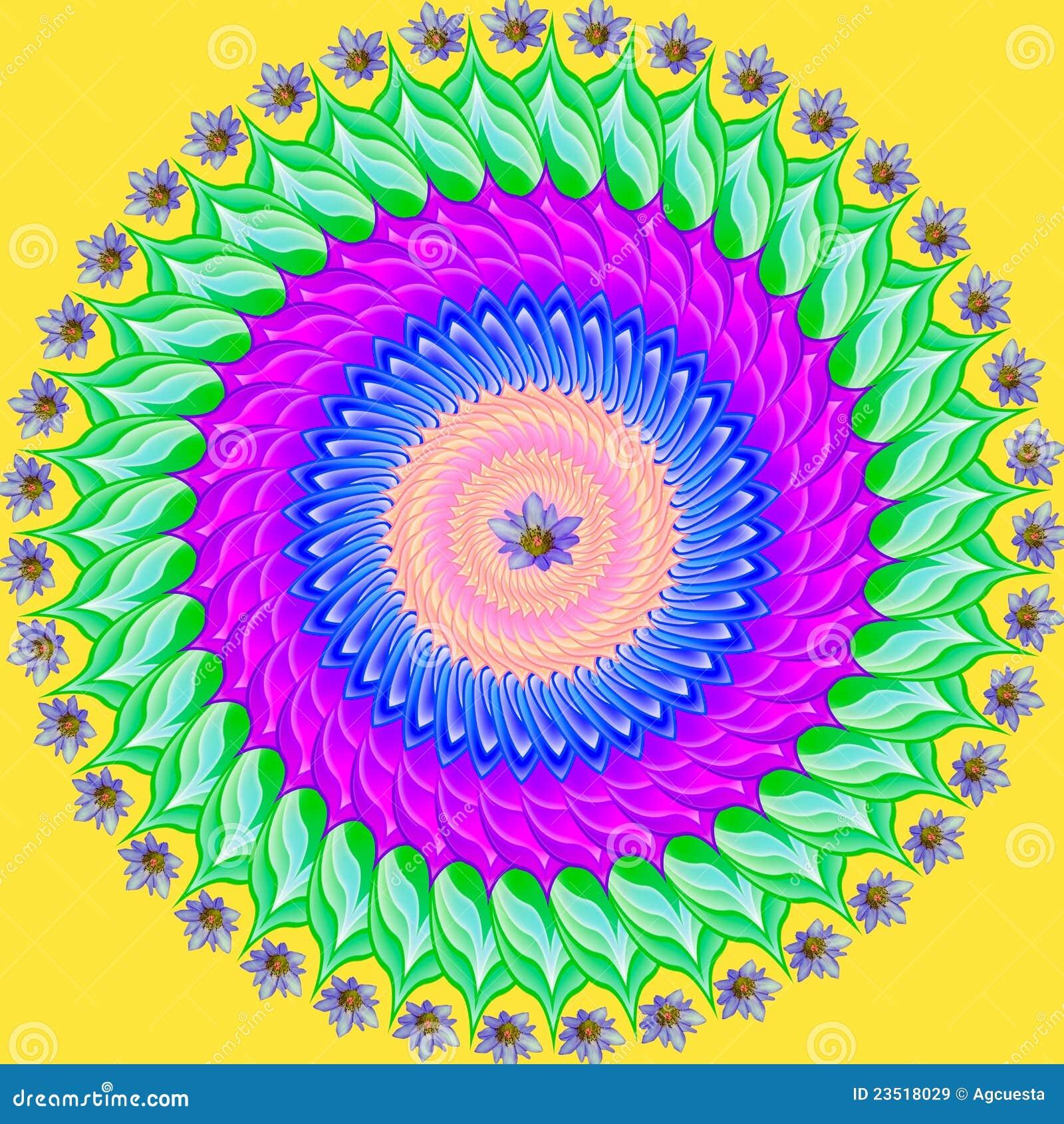 Desenho Geometrico Da Mandala Colorida Circulo Sagrado