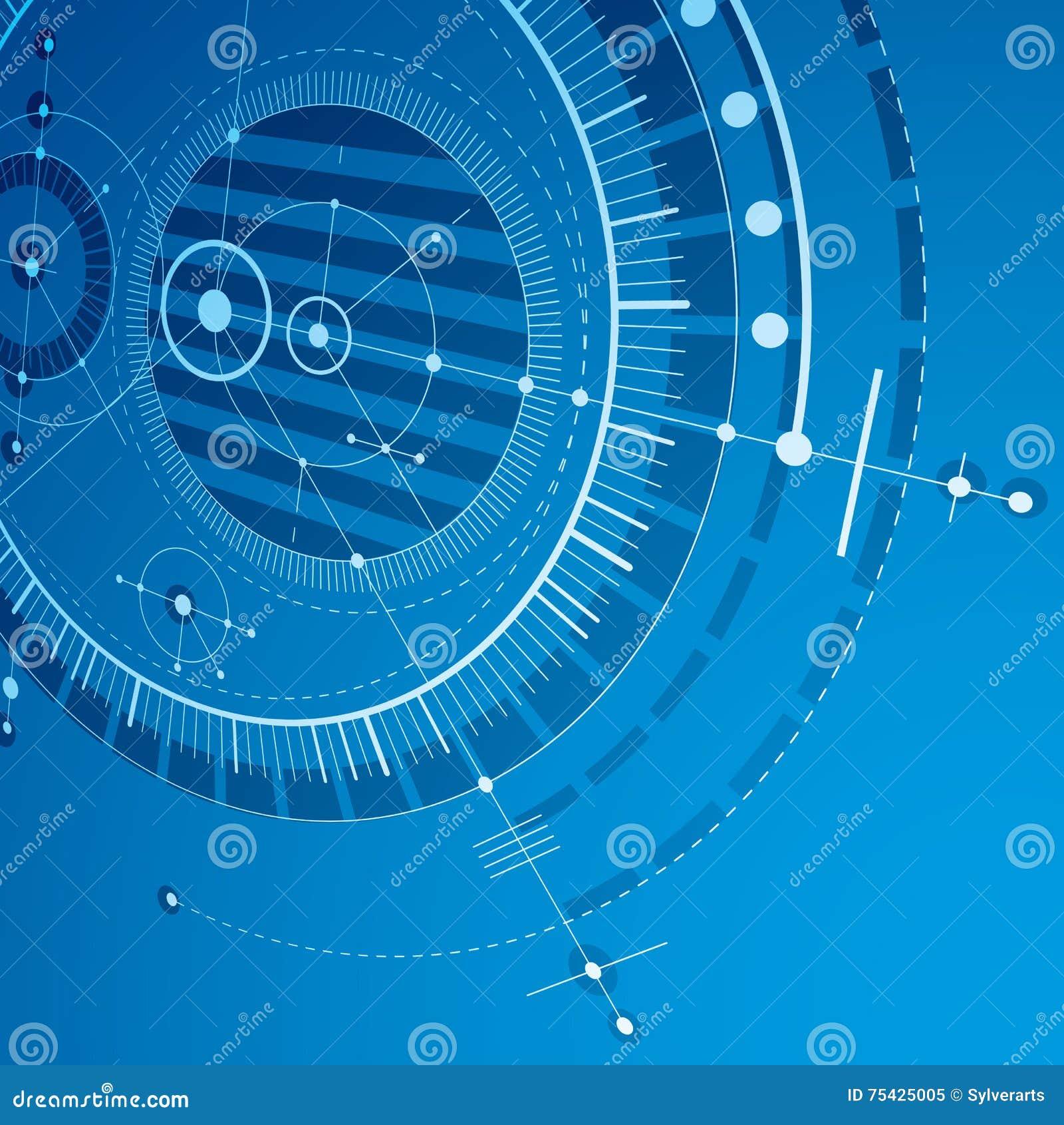 Desenho Geométrico Do Vetor Da Tecnologia 3d, Papel De