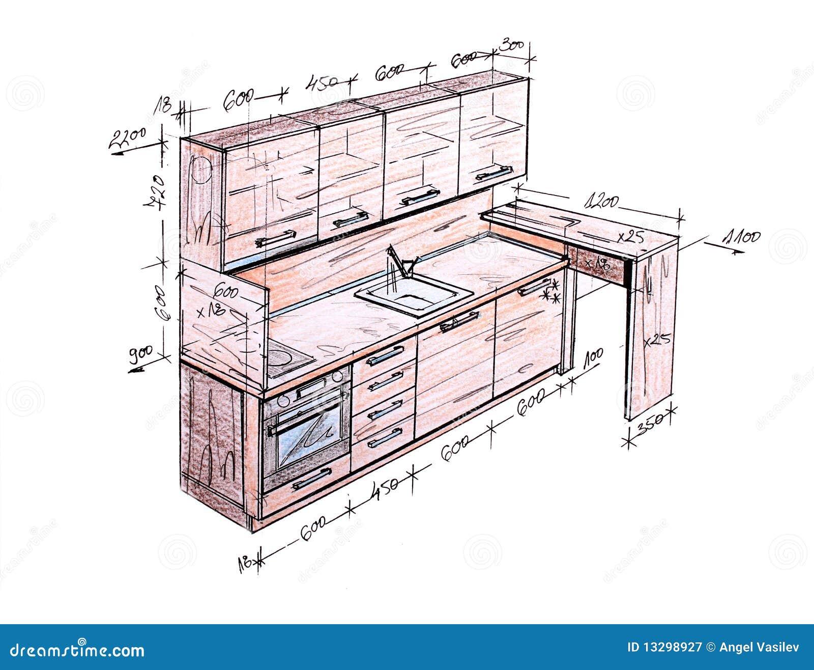 Standard House Measurements Desenho Moderno Da Carta Branca Da Cozinha Do Projeto