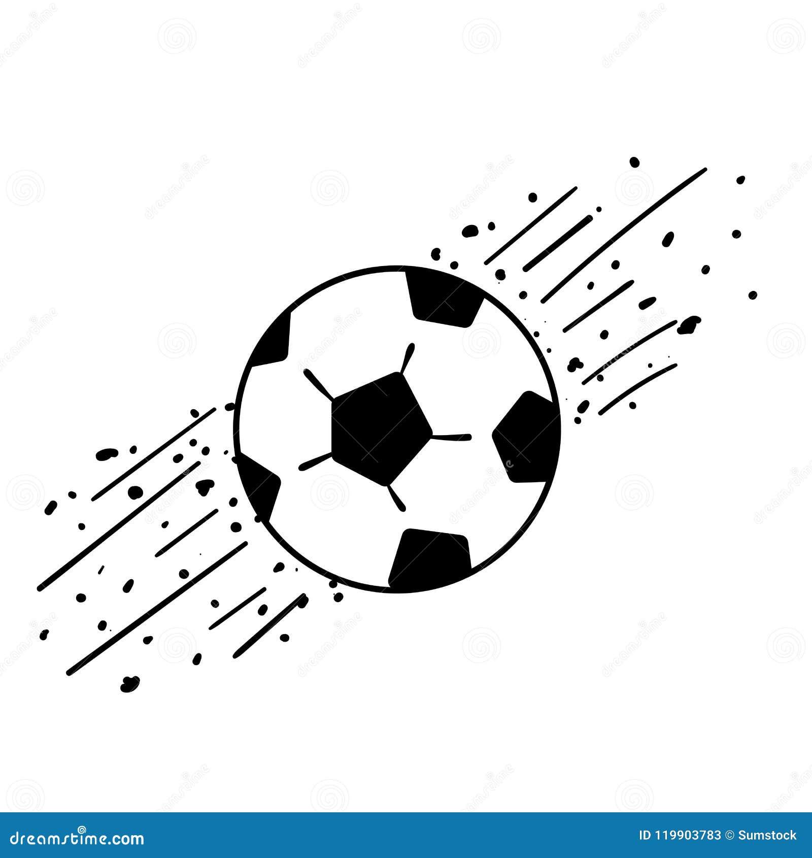 19528635823d10 Desenho Preto E Branco Da Bola Do Futebol Ou Do Futebol Ilustração ...