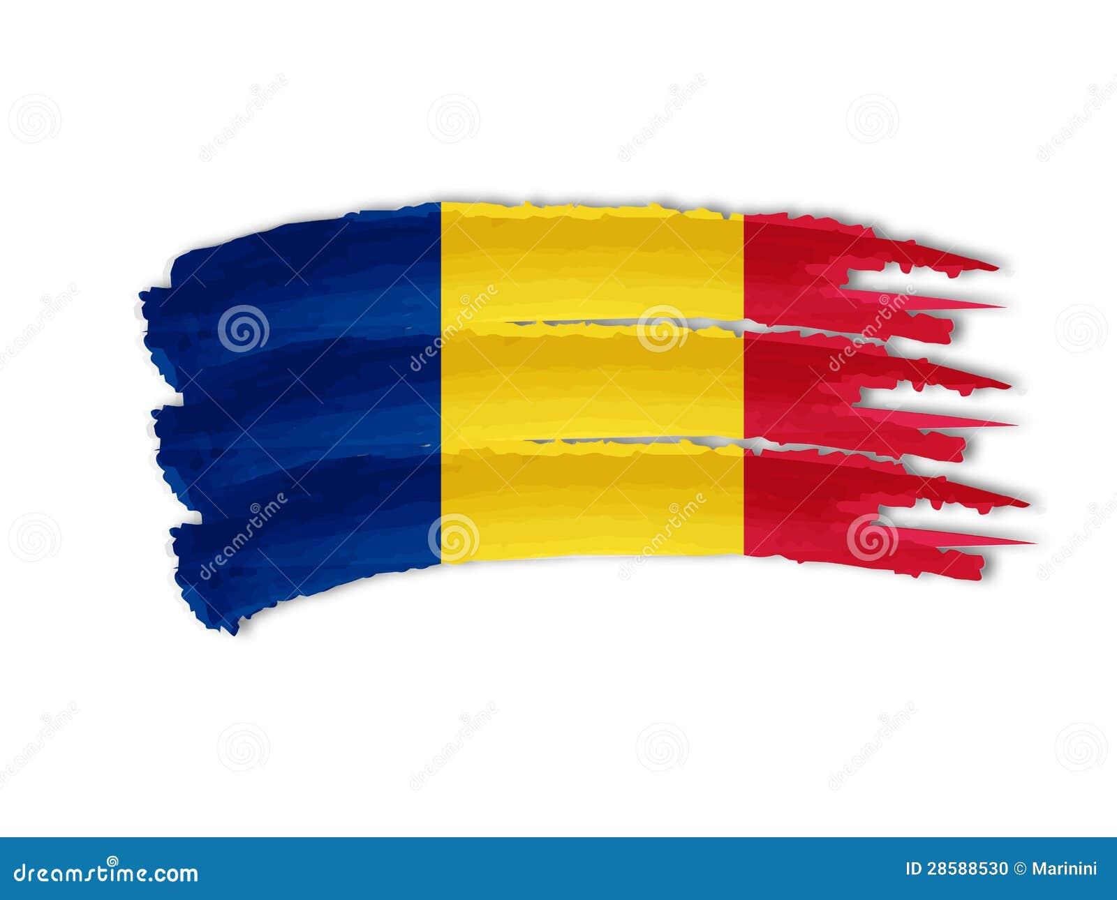 Desenho romeno da bandeira
