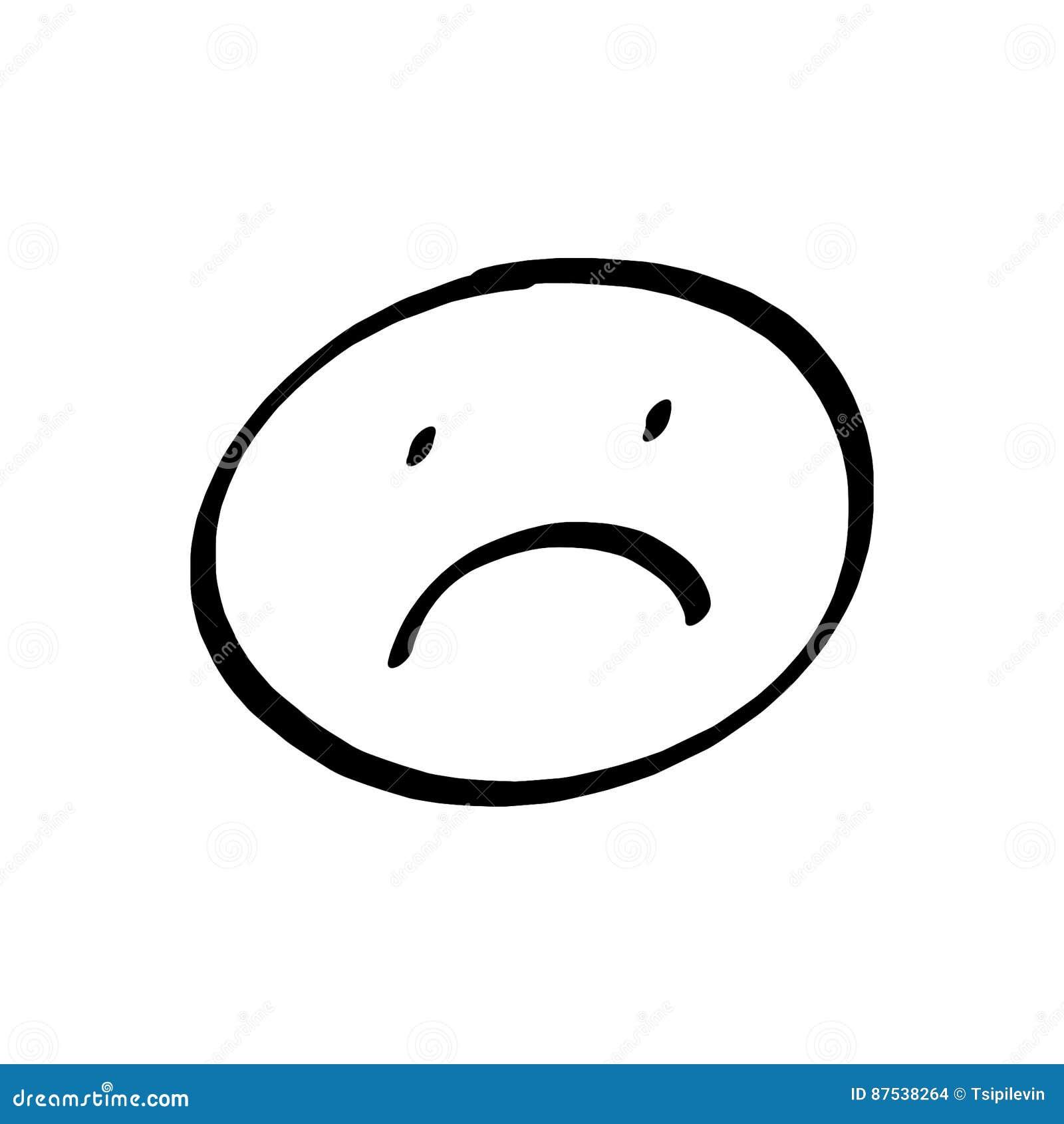 Desenho Triste Da Face Ilustracao Stock Ilustracao De Face 87538264
