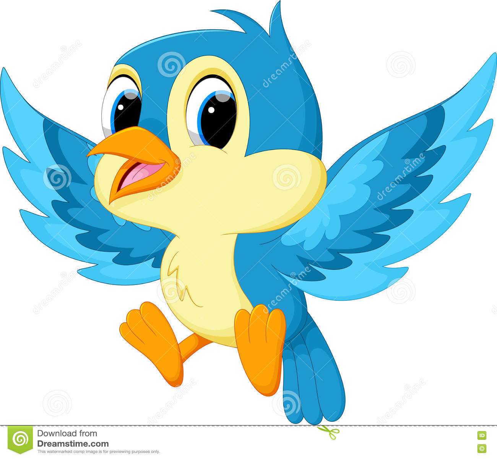 Desenhos Animados Azuis Bonitos Do Passaro Ilustracao Stock Ilustracao De Bonitos Desenhos 79398340