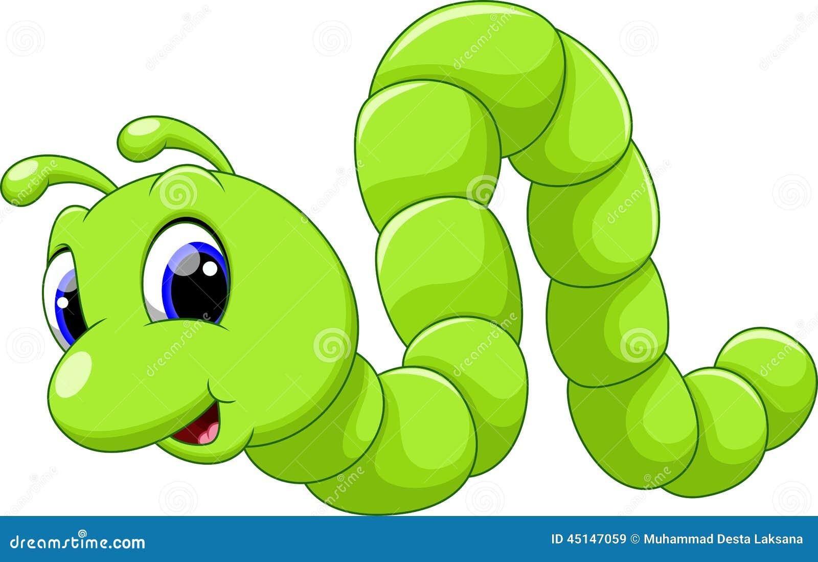 Desenhos animados bonitos da lagarta