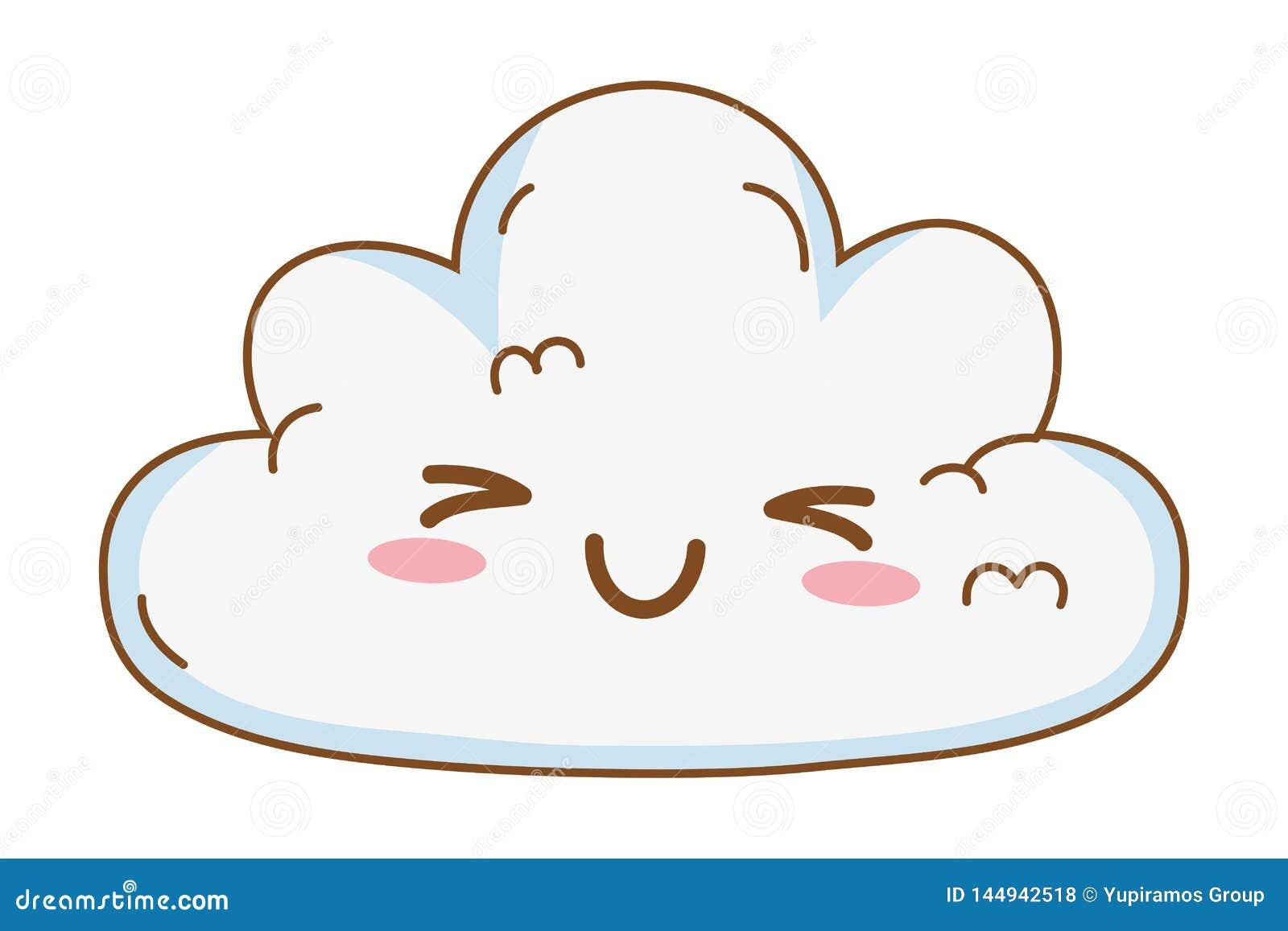Desenhos Animados Bonitos Da Nuvem Do Kawaii Ilustração do Vetor -  Ilustração de animados, kawaii: 144942518