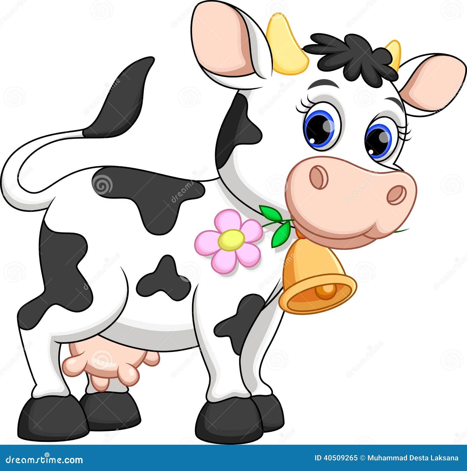 Desenhos animados bonitos da vaca