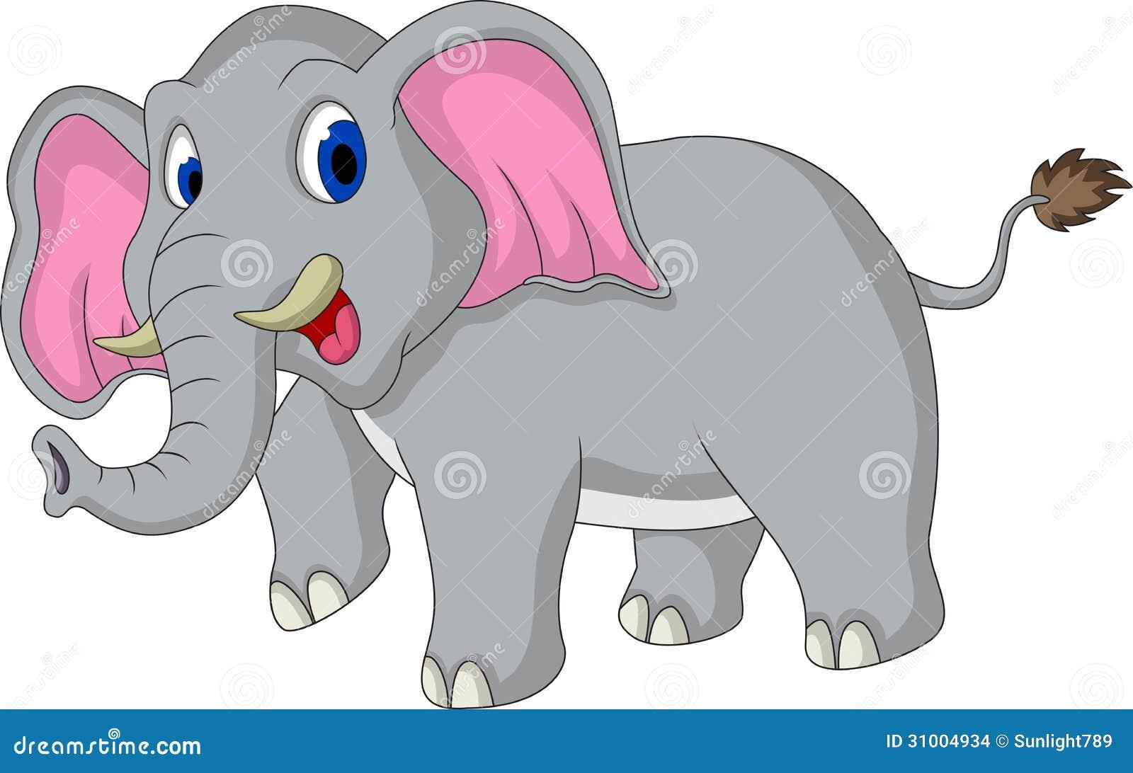 desenhos animados bonitos do elefante ilustração stock ilustração