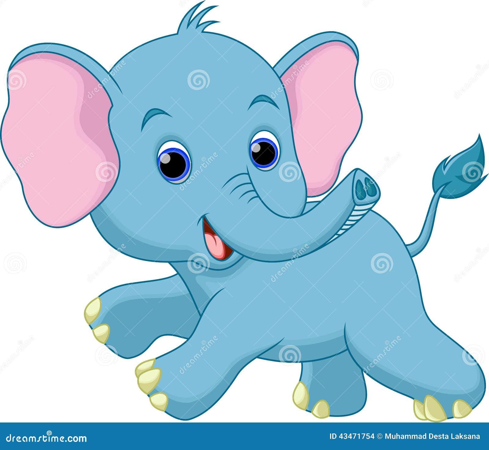 Desenhos animados bonitos do elefante do beb ilustra o - Fotos de elefantes bebes ...