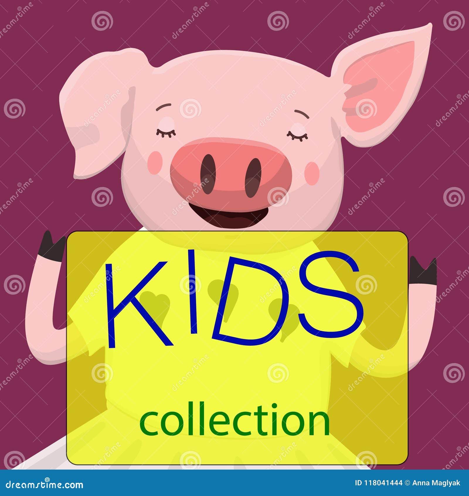 Desenhos animados bonitos do porco