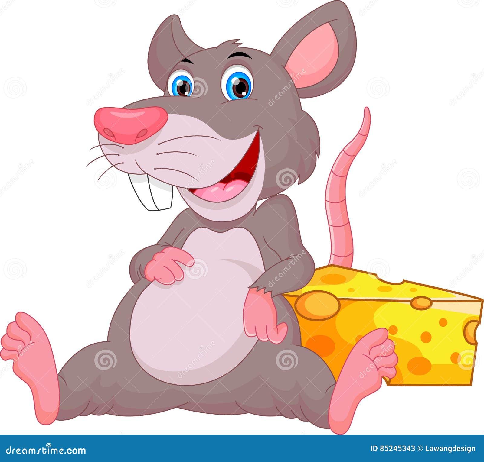Desenhos animados bonitos do rato