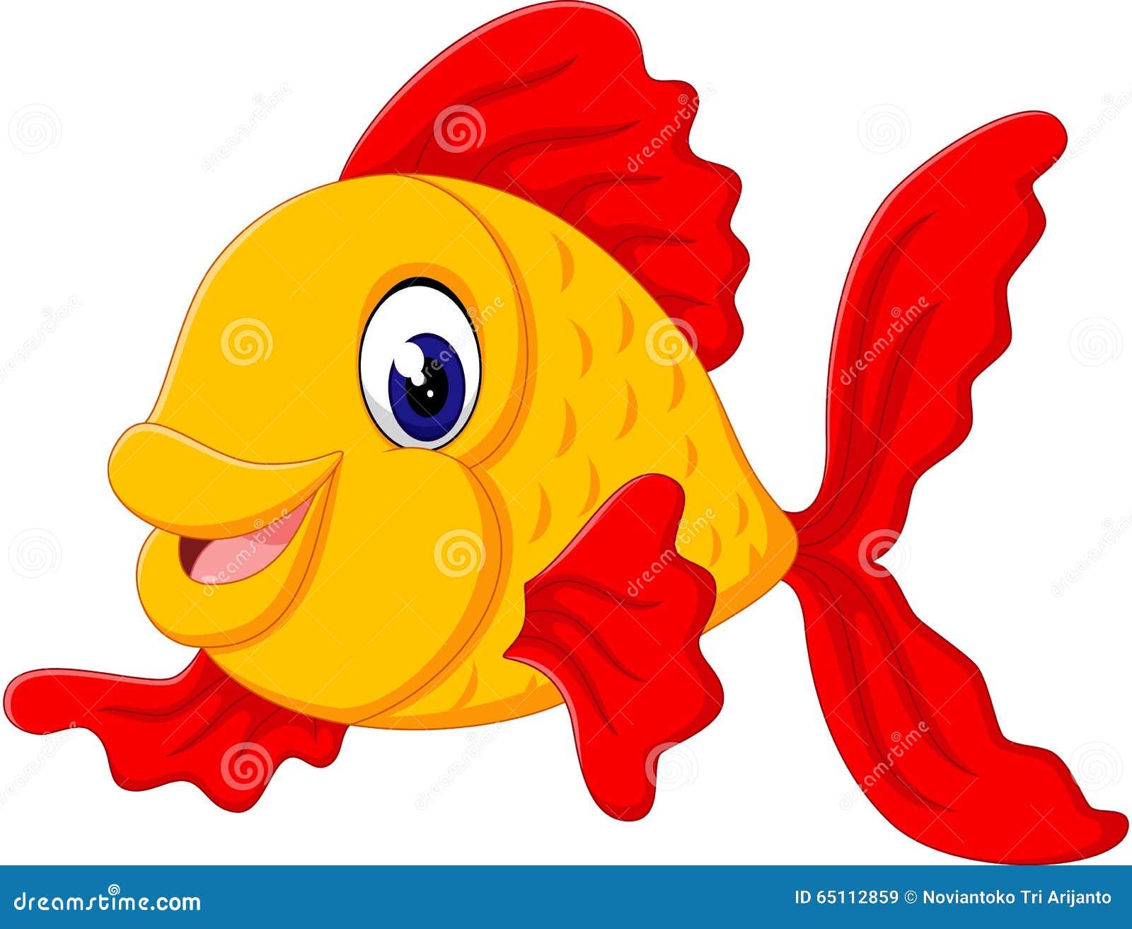 Desenhos animados bonitos dos peixes