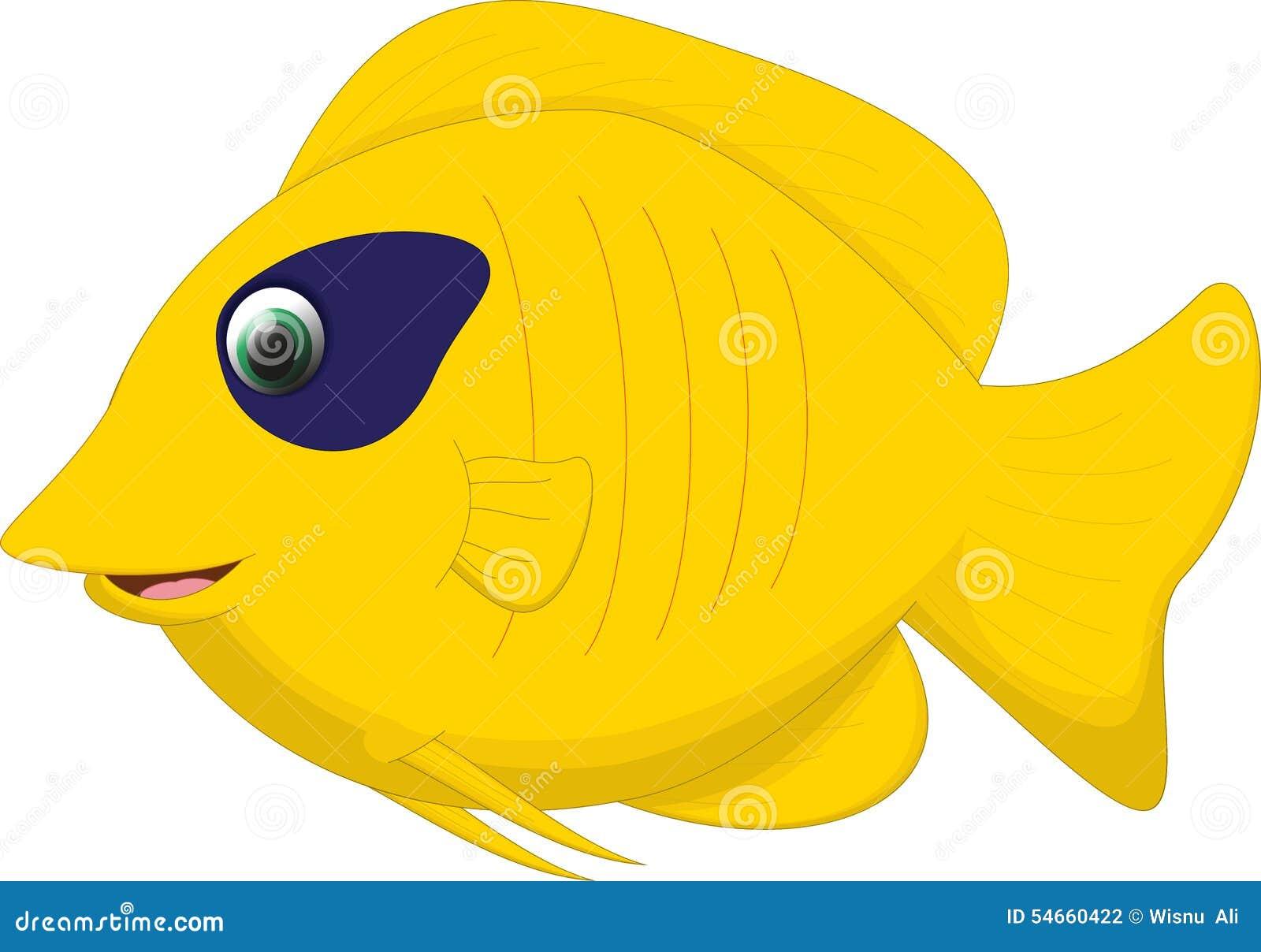 Desenhos animados bonitos dos peixes da borboleta