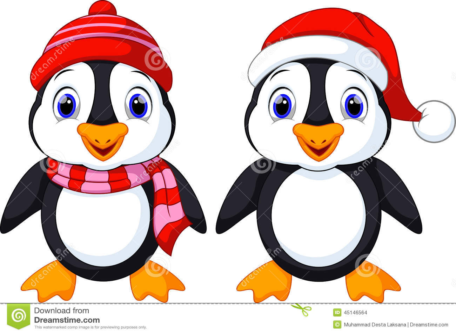 Desenhos Animados Bonitos Dos Pinguins Ilustracao Stock
