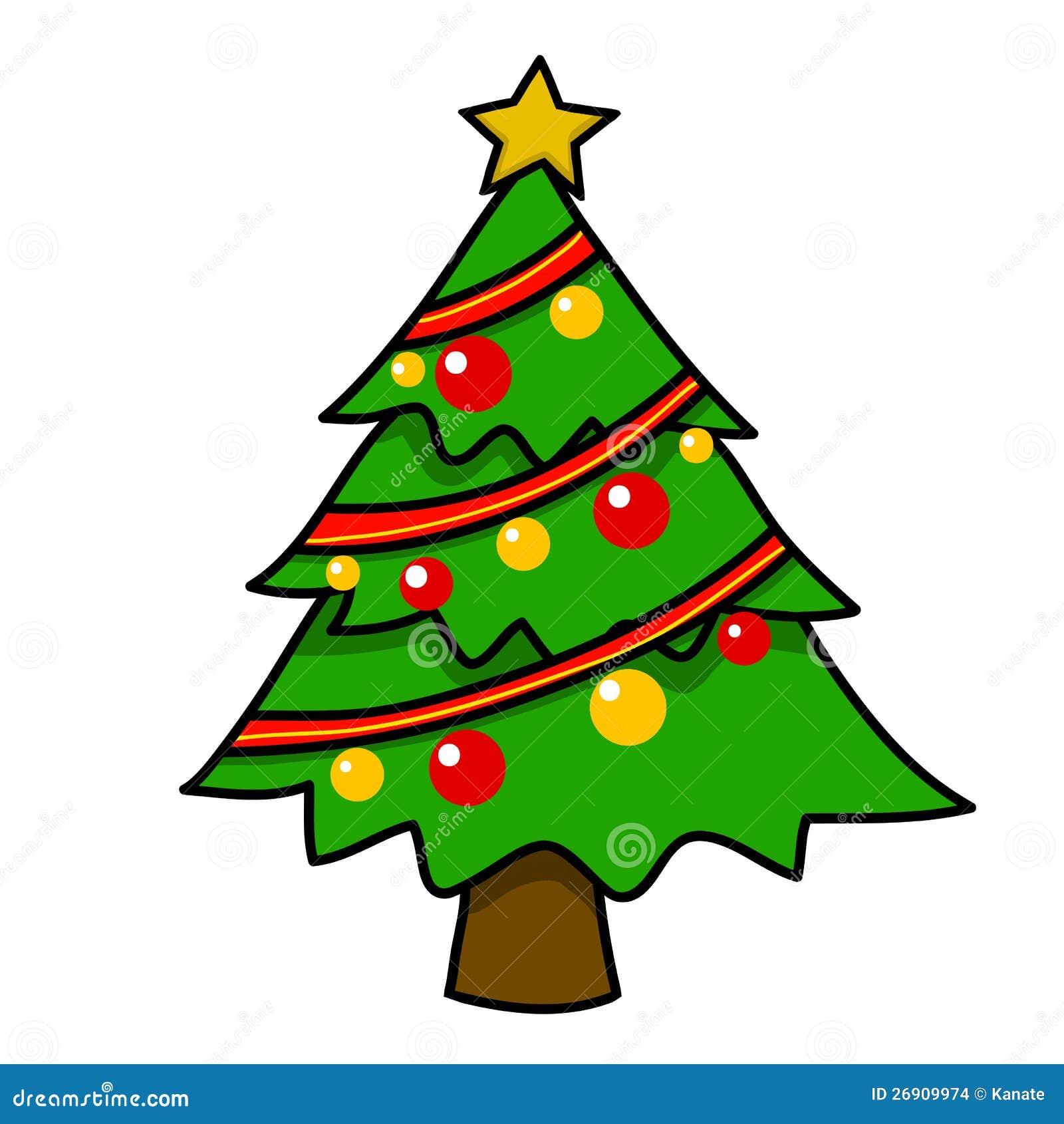Desenhos Animados Da Arvore De Natal Ilustracao Stock