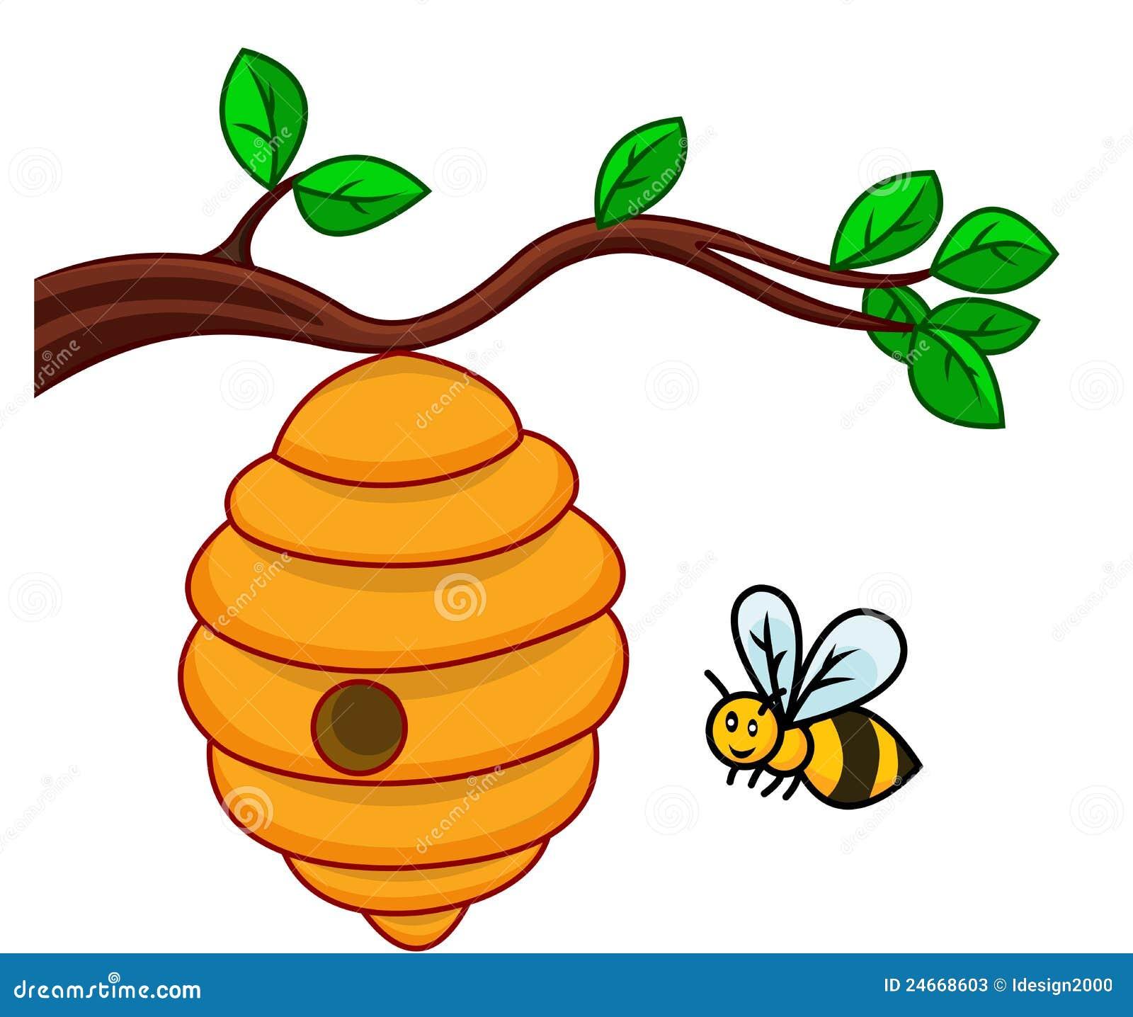desenhos animados da abelha ilustra u00e7 u00e3o do vetor