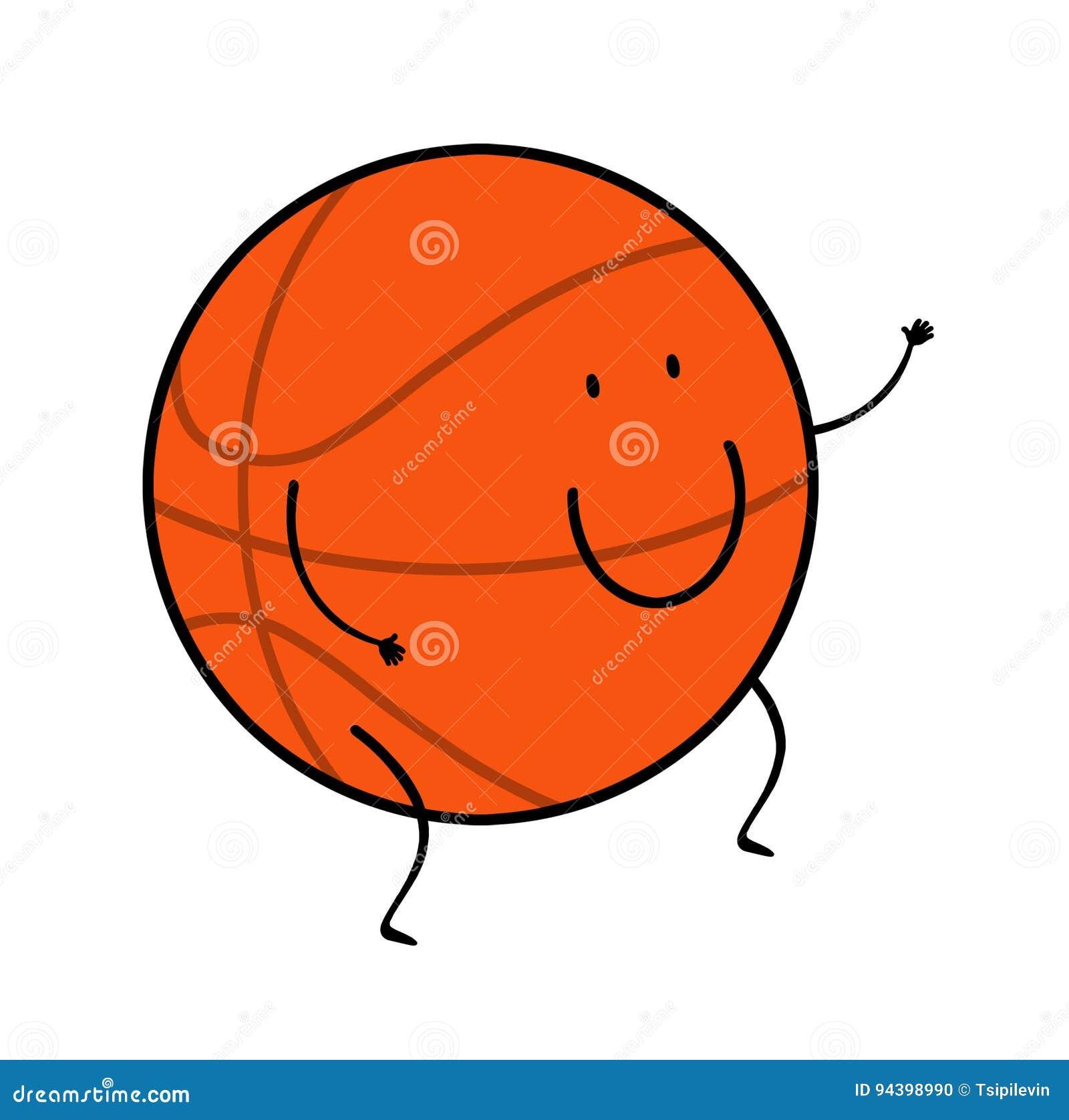 desenhos animados da bola do basquetebol ilustração stock