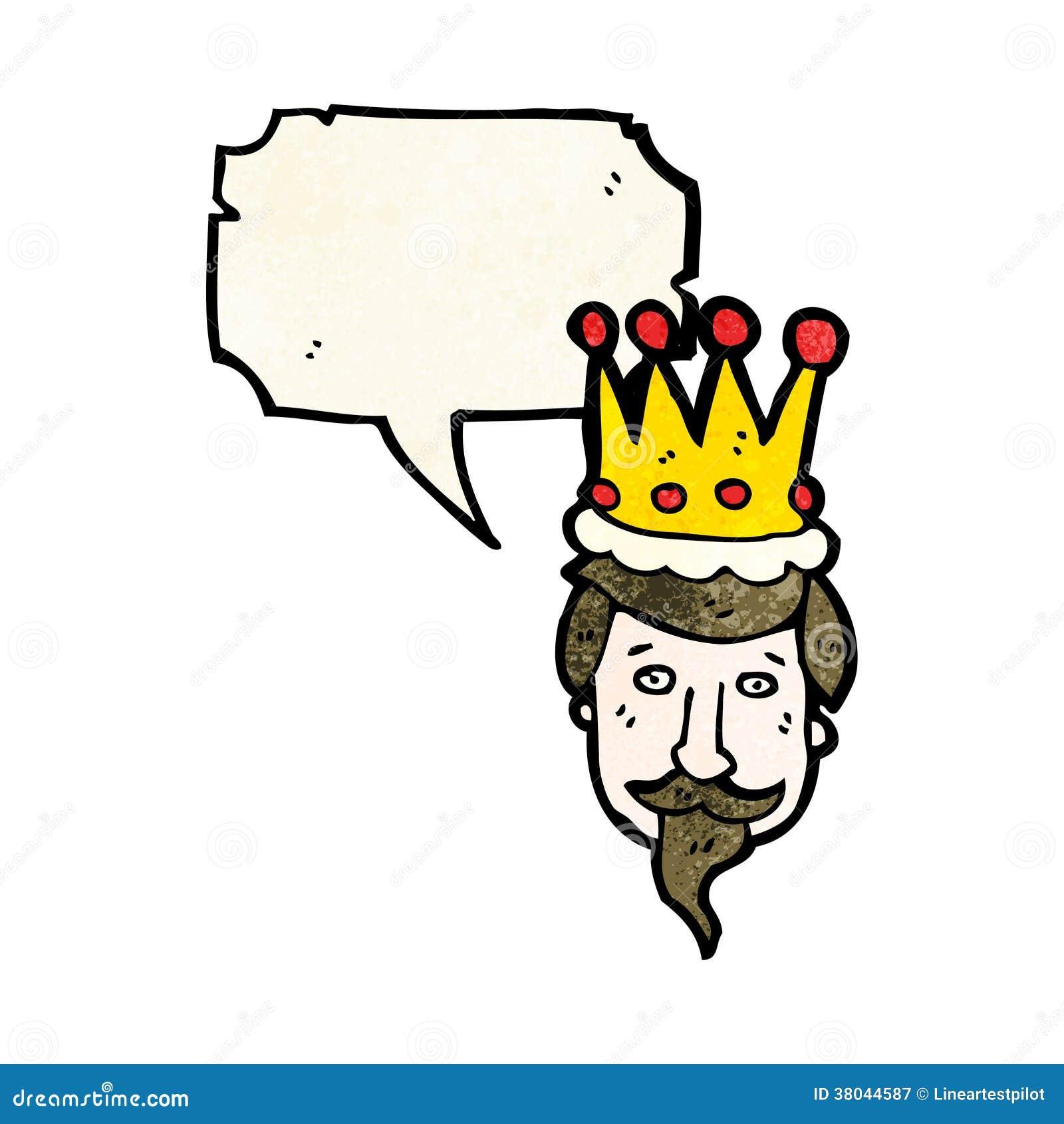 Desenhos Animados Da Cabeca Dos Reis Ilustracao Do Vetor