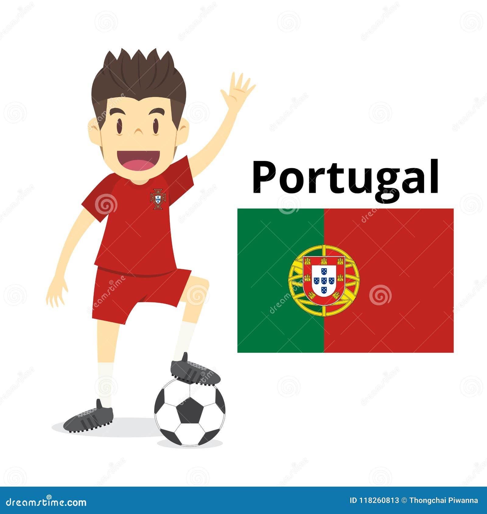 Desenhos Animados Da Equipa Nacional De Portugal Mundo Do Futebol Bandeiras De Pais 201 Ilustracao Do Vetor Ilustracao De Nacional Equipa 118260813