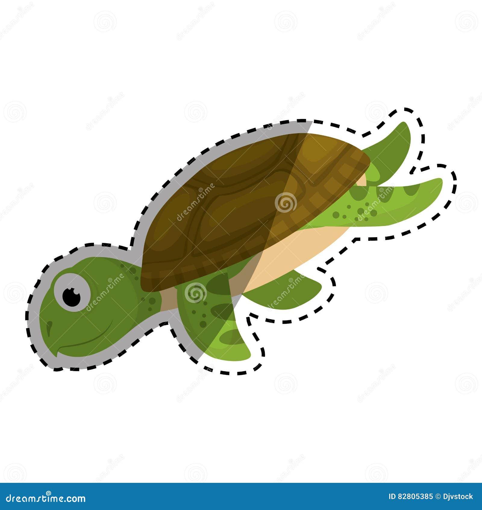 Desenhos Animados Da Tartaruga Marinha Ilustracao Stock