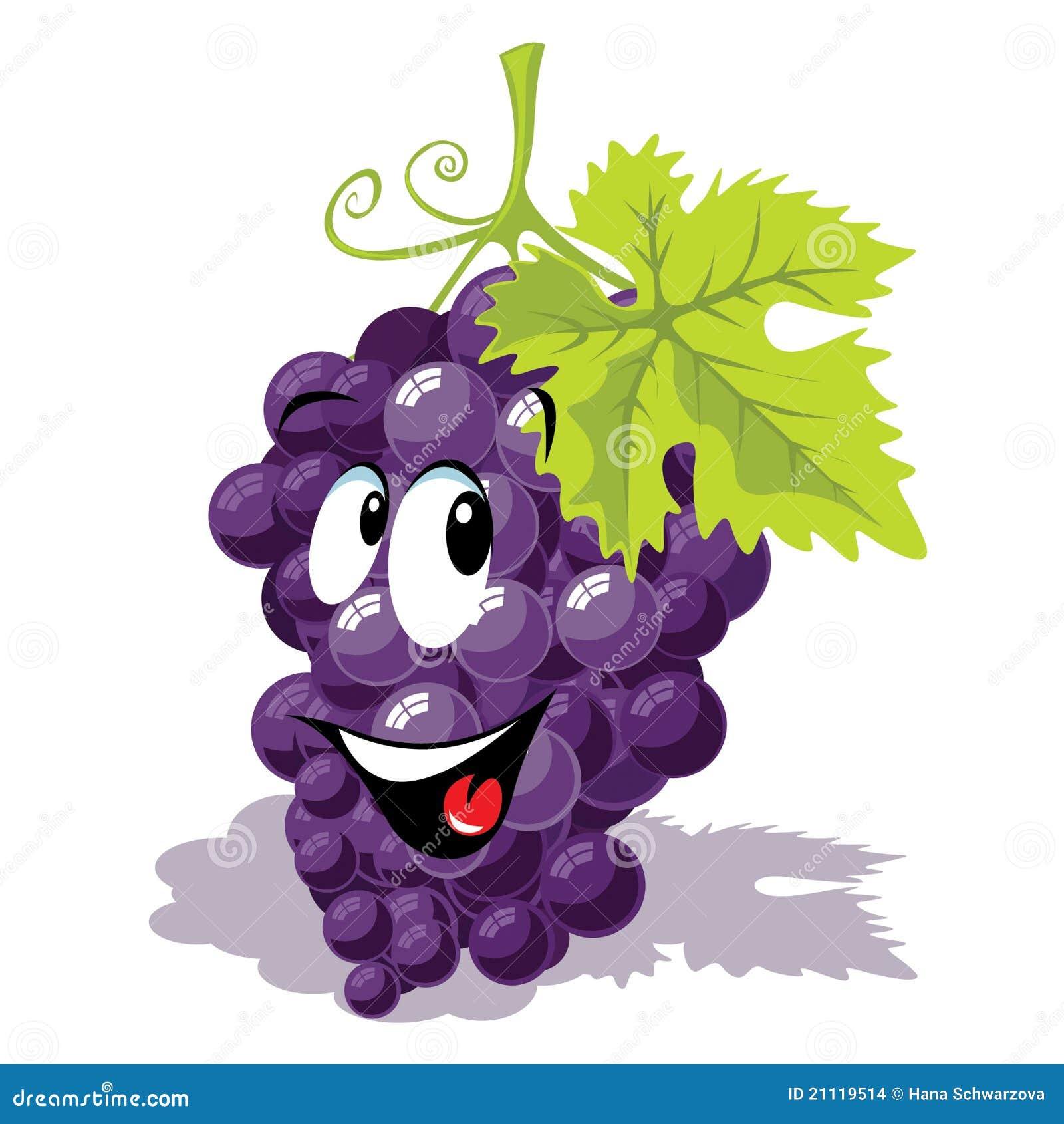 desenhos animados da uva para vinho ilustração do vetor ilustração