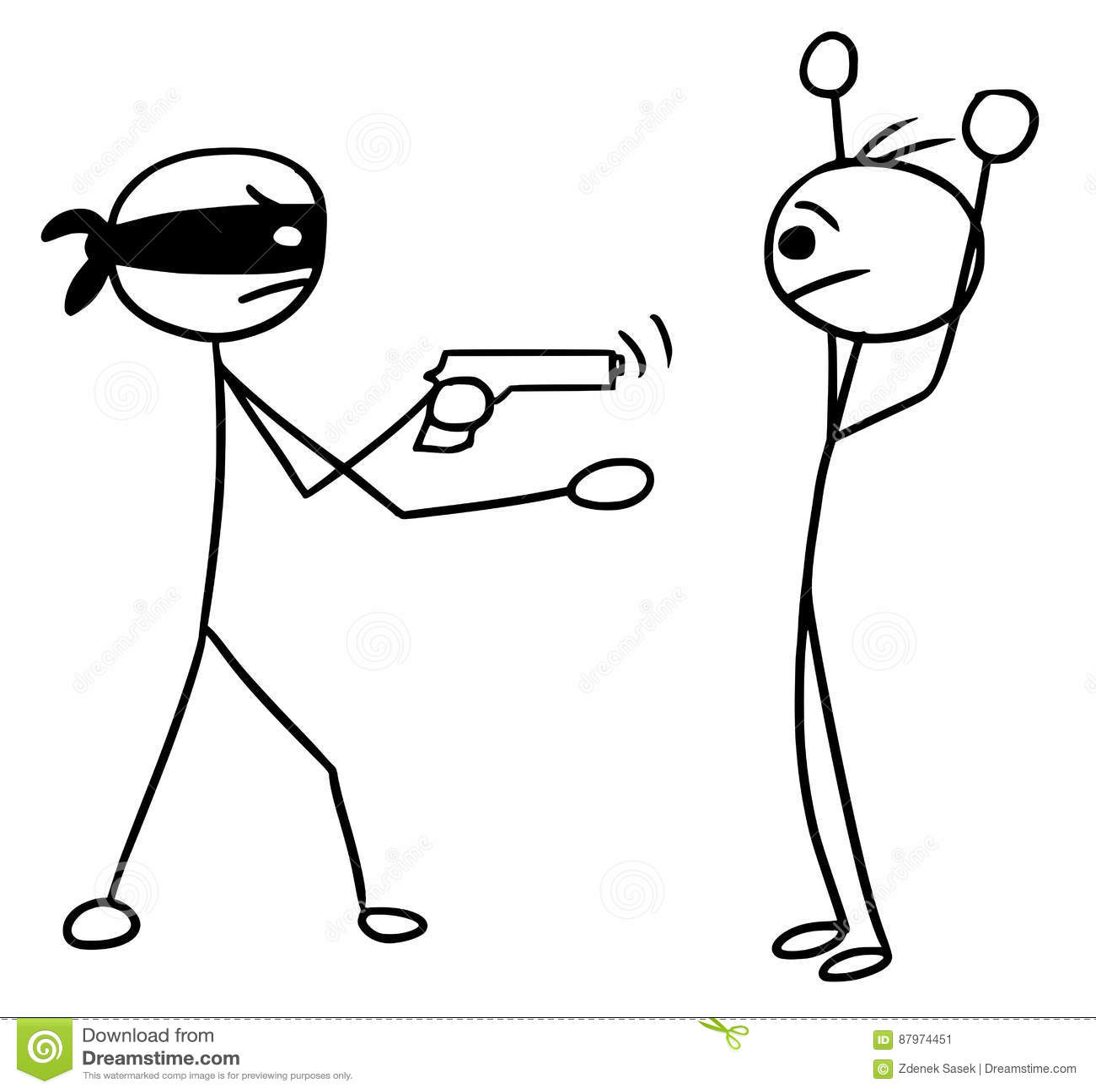 Desenhos Animados De Stickman Do Vetor Do Homem Dois Durante O