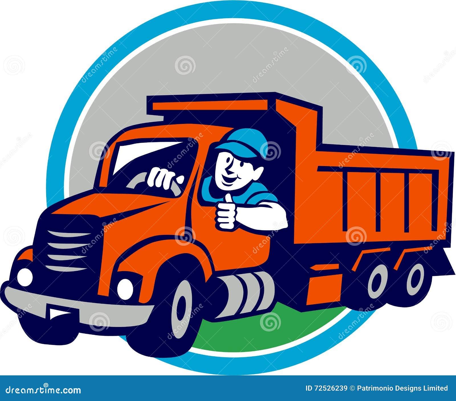 Desenhos Animados De Thumbs Up Circle Do Motorista De