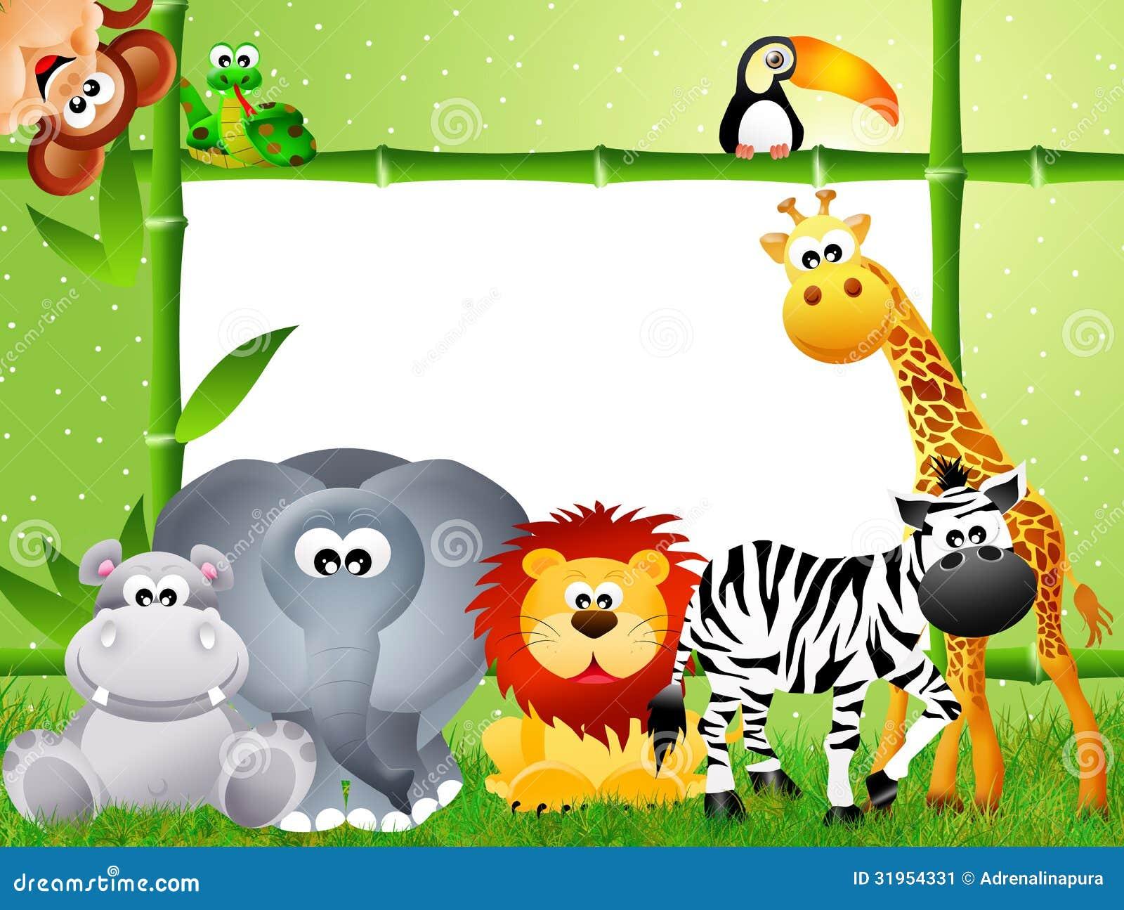Desenhos Animados Do Animal Do Safari Imagem de Stock - Imagem ...