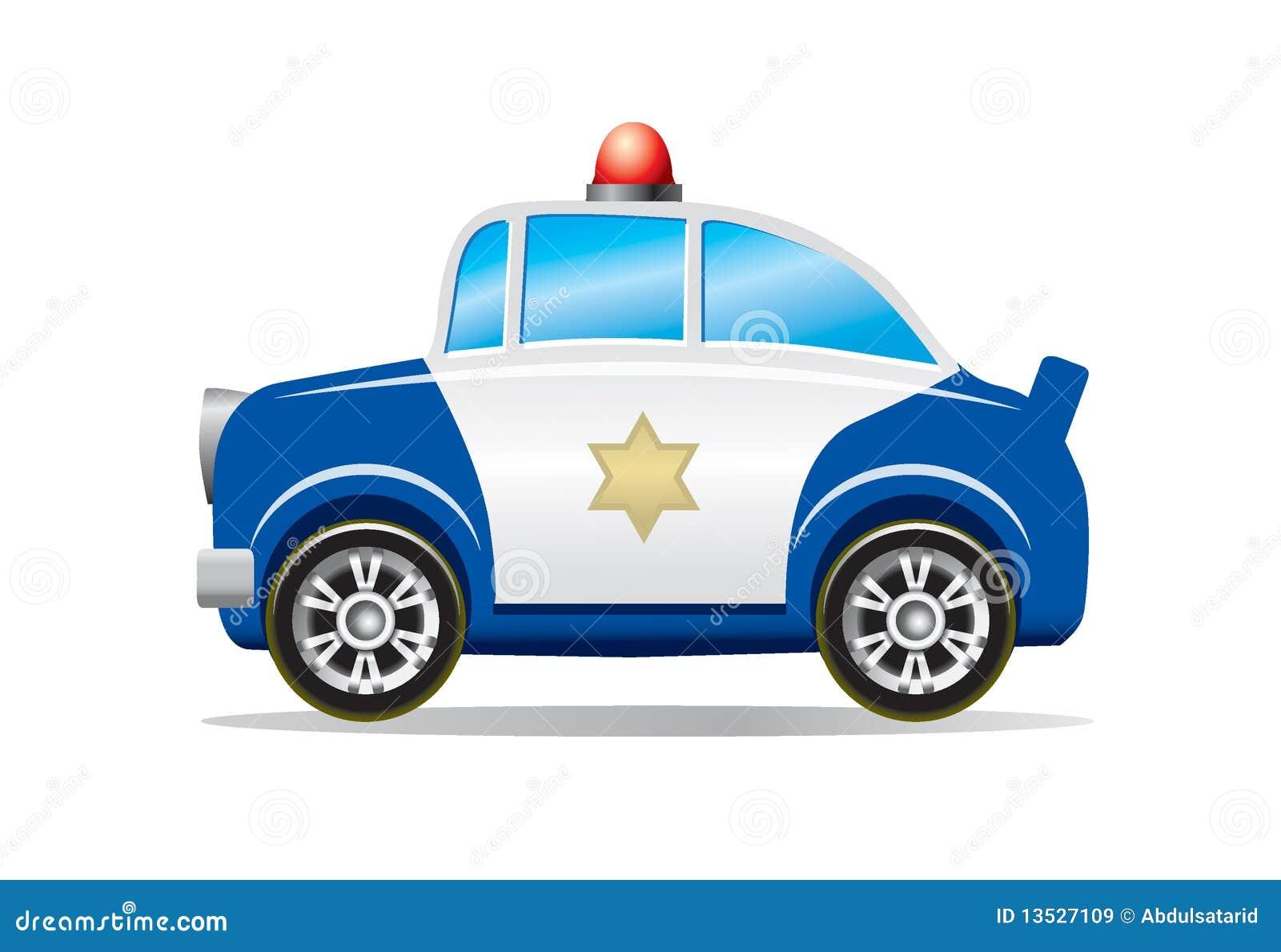 desenhos animados do carro de polícia ilustração do vetor
